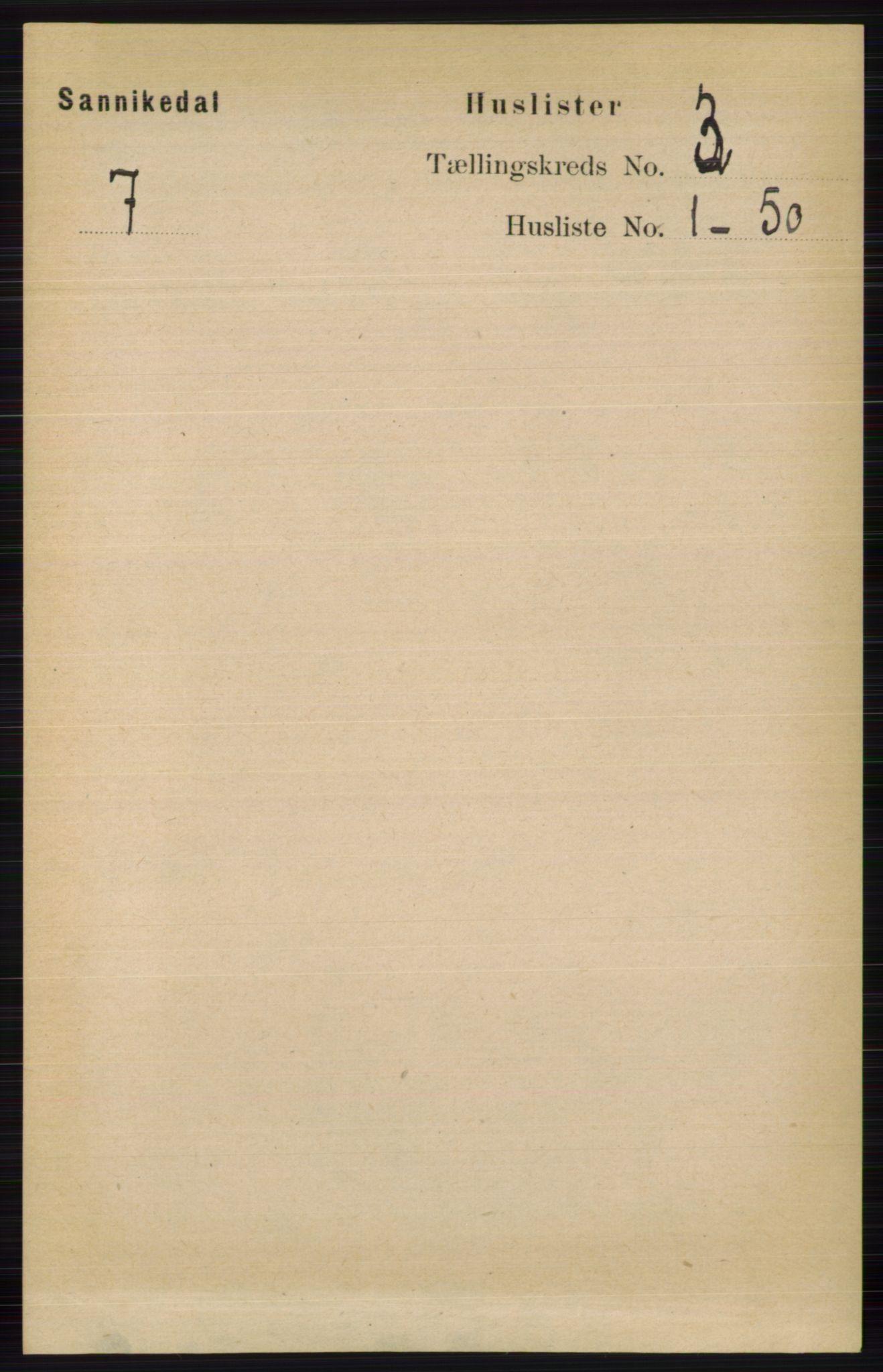 RA, Folketelling 1891 for 0816 Sannidal herred, 1891, s. 739