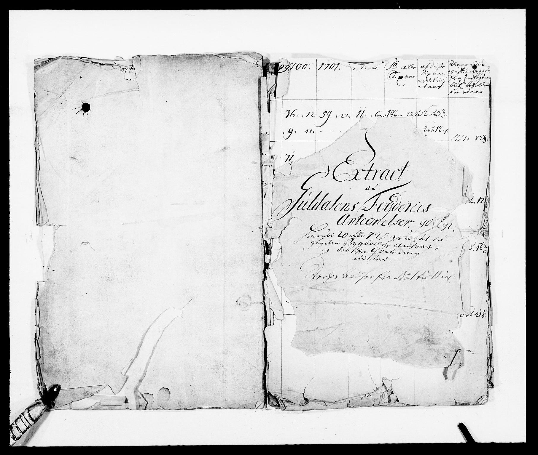 RA, Rentekammeret inntil 1814, Reviderte regnskaper, Fogderegnskap, R59/L3941: Fogderegnskap Gauldal, 1691, s. 275