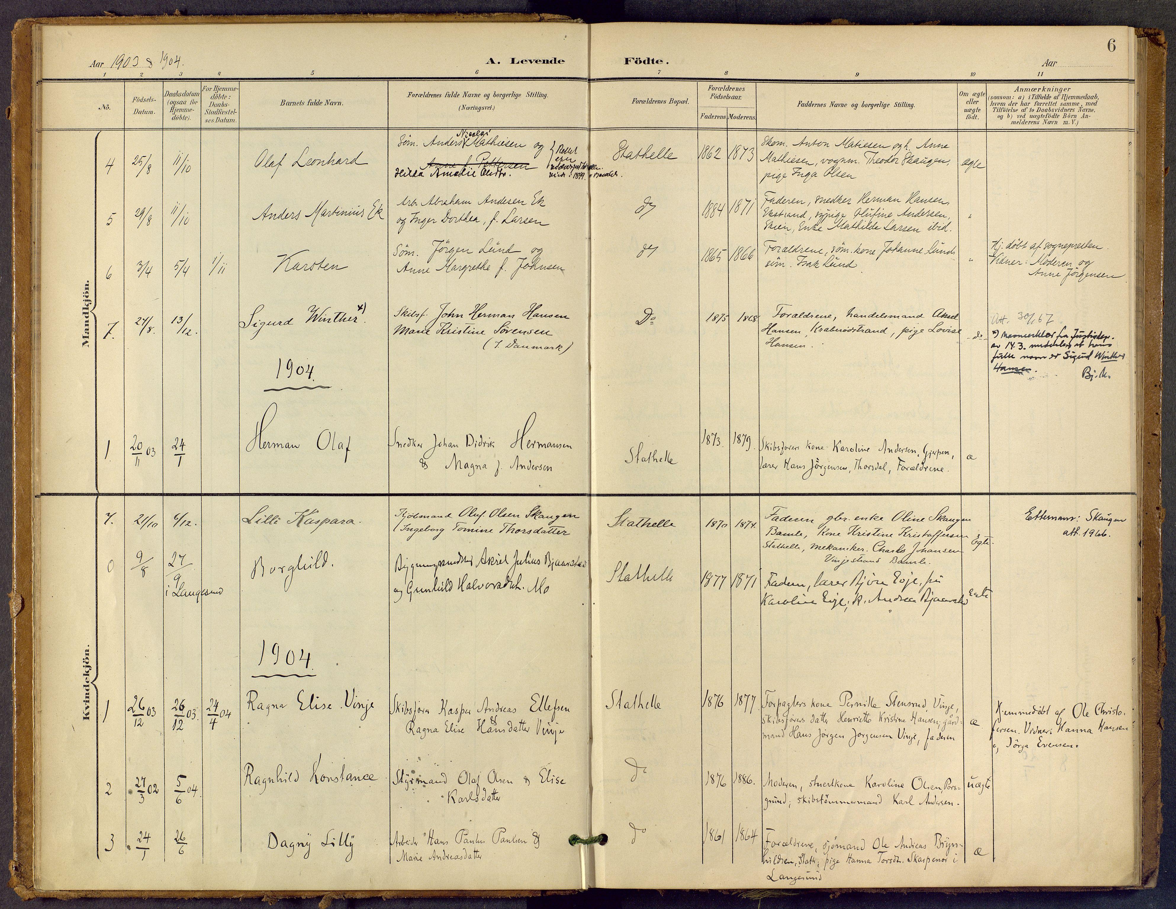 SAKO, Bamble kirkebøker, F/Fb/L0002: Ministerialbok nr. II 2, 1900-1921, s. 6