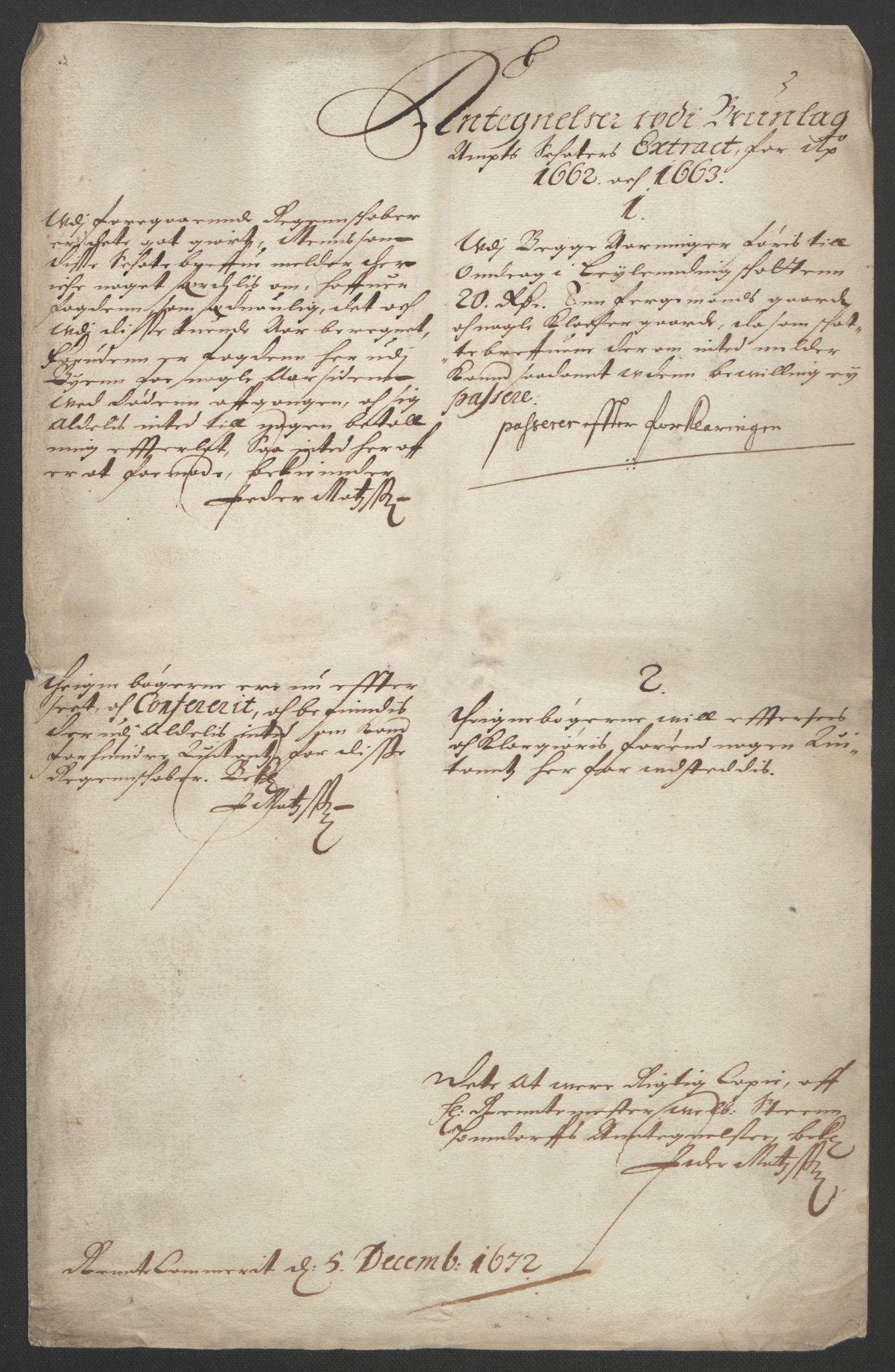 RA, Rentekammeret inntil 1814, Reviderte regnskaper, Fogderegnskap, R33/L1963: Fogderegnskap Larvik grevskap, 1662-1664, s. 196