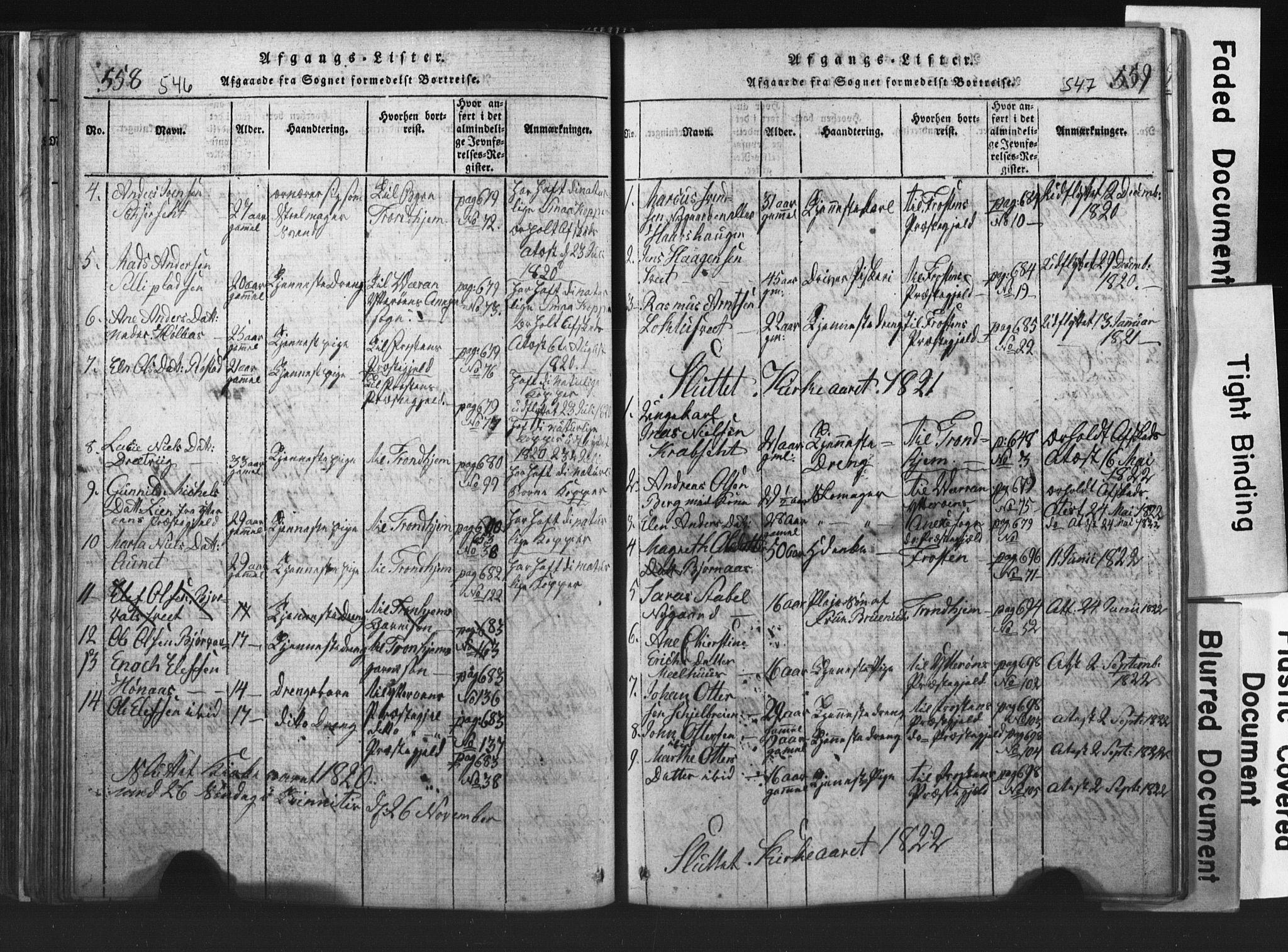 SAT, Ministerialprotokoller, klokkerbøker og fødselsregistre - Nord-Trøndelag, 701/L0017: Klokkerbok nr. 701C01, 1817-1825, s. 546-547