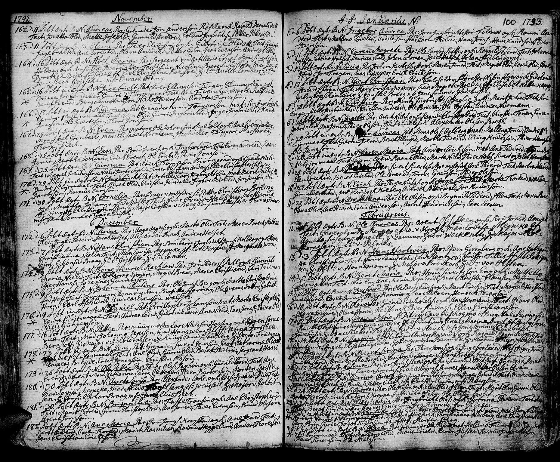SAT, Ministerialprotokoller, klokkerbøker og fødselsregistre - Sør-Trøndelag, 601/L0039: Ministerialbok nr. 601A07, 1770-1819, s. 100