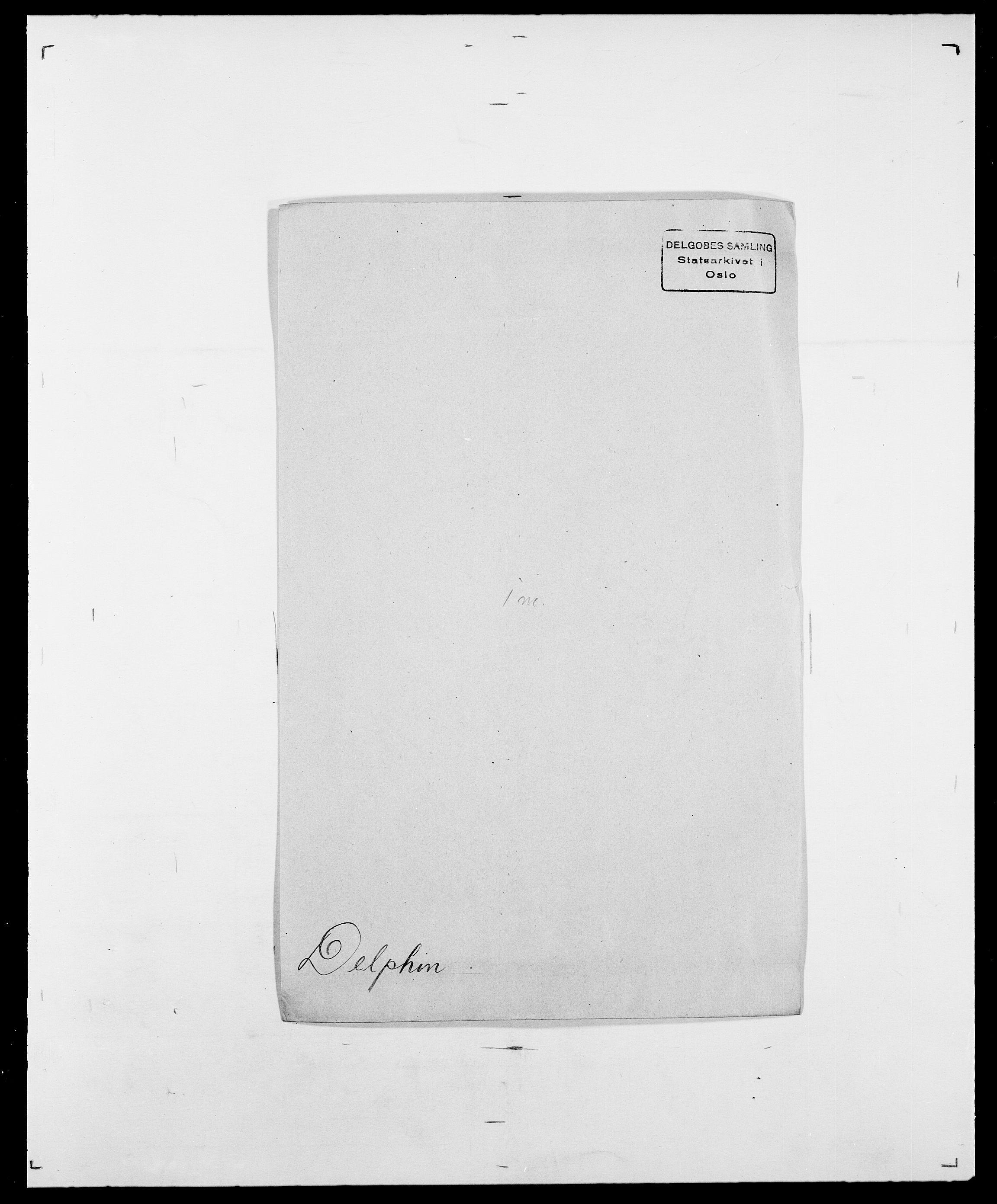 SAO, Delgobe, Charles Antoine - samling, D/Da/L0009: Dahl - v. Düren, s. 486