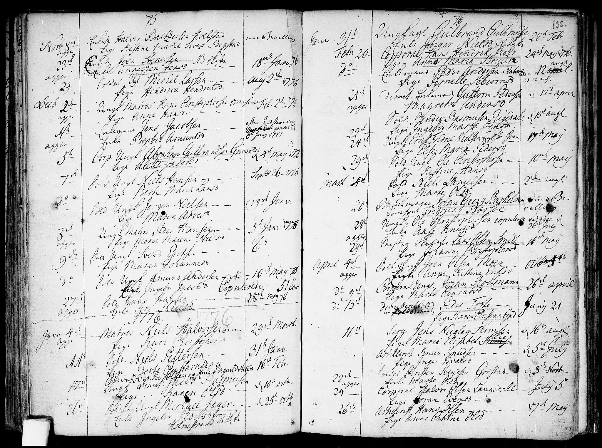 SAO, Garnisonsmenigheten Kirkebøker, F/Fa/L0002: Ministerialbok nr. 2, 1757-1776, s. 132a