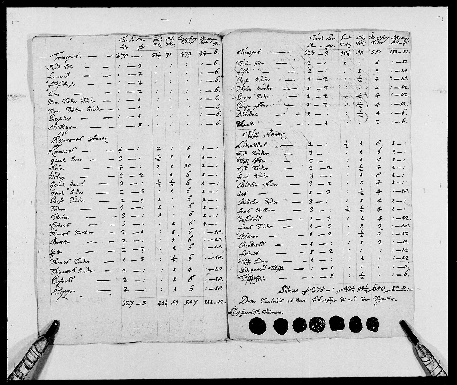 RA, Rentekammeret inntil 1814, Reviderte regnskaper, Fogderegnskap, R24/L1573: Fogderegnskap Numedal og Sandsvær, 1687-1691, s. 473