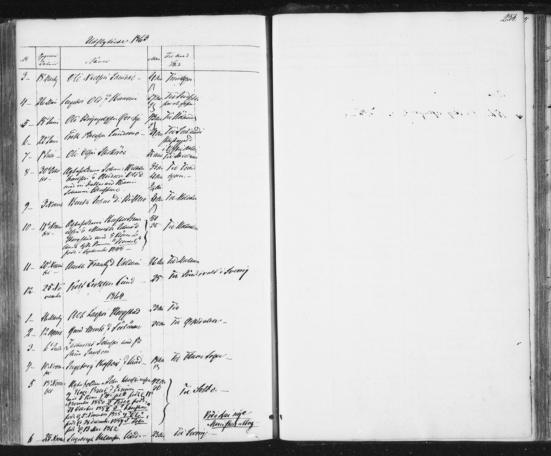 SAT, Ministerialprotokoller, klokkerbøker og fødselsregistre - Sør-Trøndelag, 692/L1103: Ministerialbok nr. 692A03, 1849-1870, s. 254