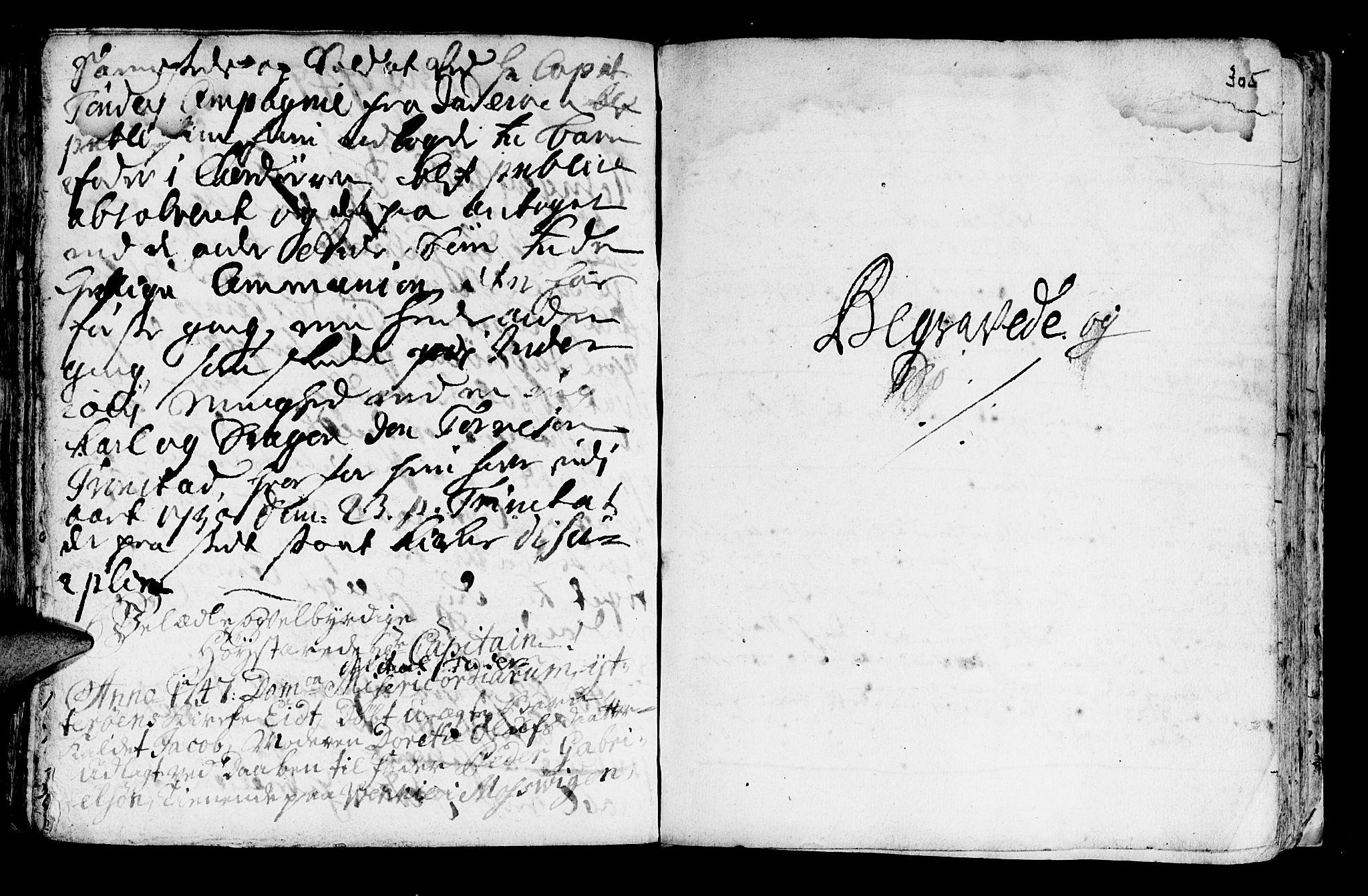 SAT, Ministerialprotokoller, klokkerbøker og fødselsregistre - Nord-Trøndelag, 722/L0215: Ministerialbok nr. 722A02, 1718-1755, s. 305