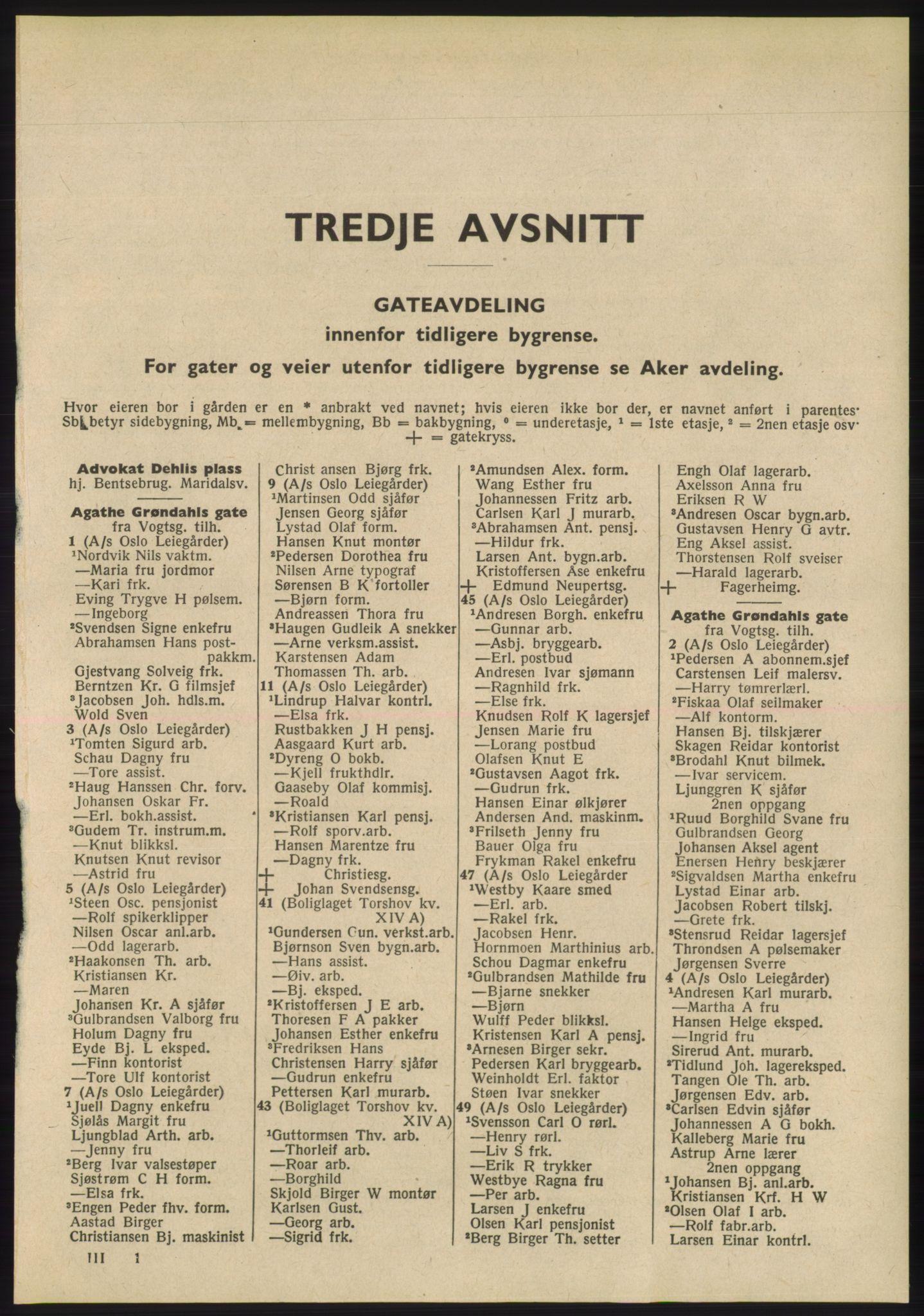 RA, Oslo adressebok (publikasjon)*, 1955, s. 1801