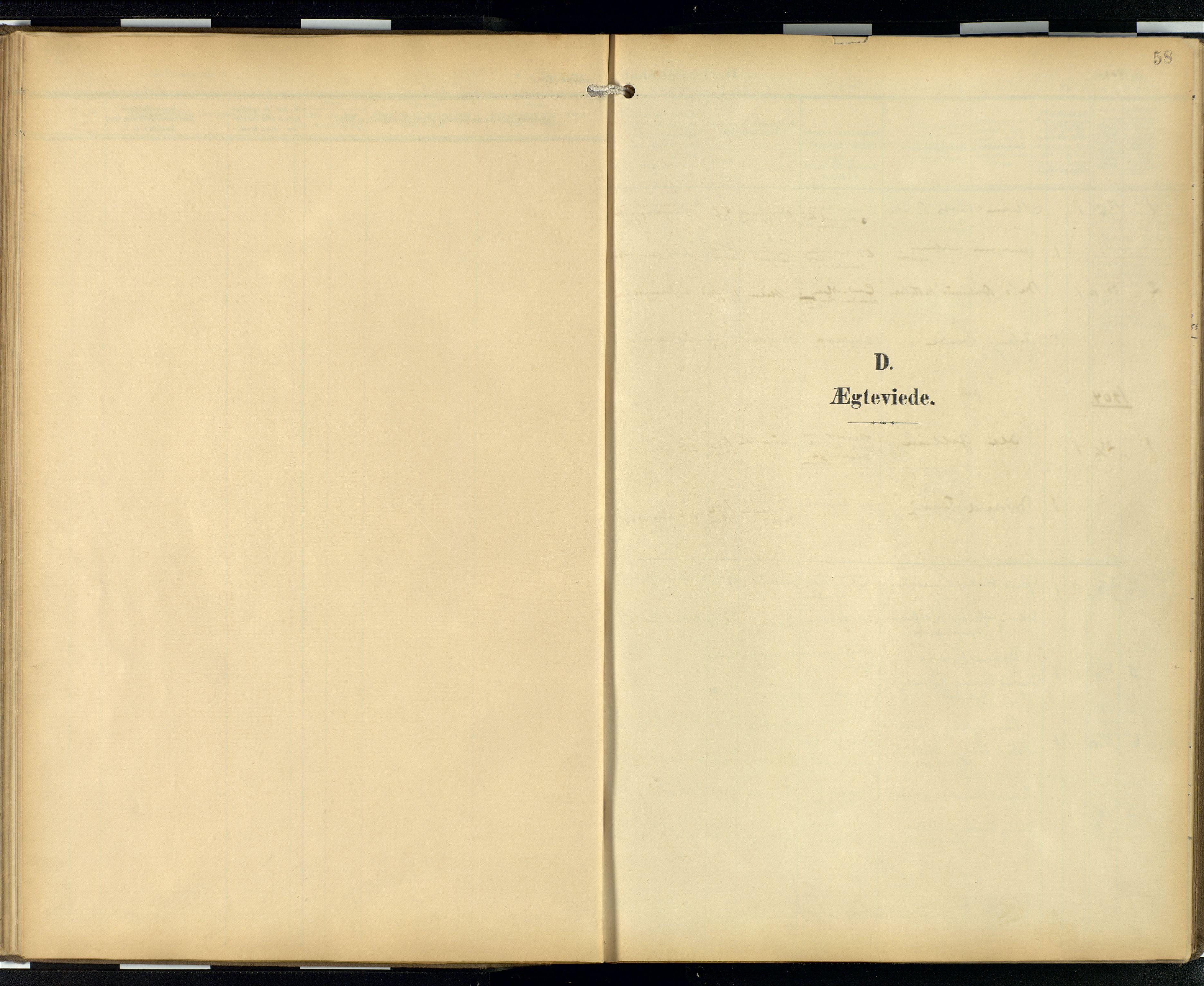 SAB, Privatarkiv 103 - Den norske sjømannsmisjon i utlandet/London m/bistasjoner, H/Ha/L0003: Ministerialbok nr. A 3, 1903-1934, s. 57b-58a
