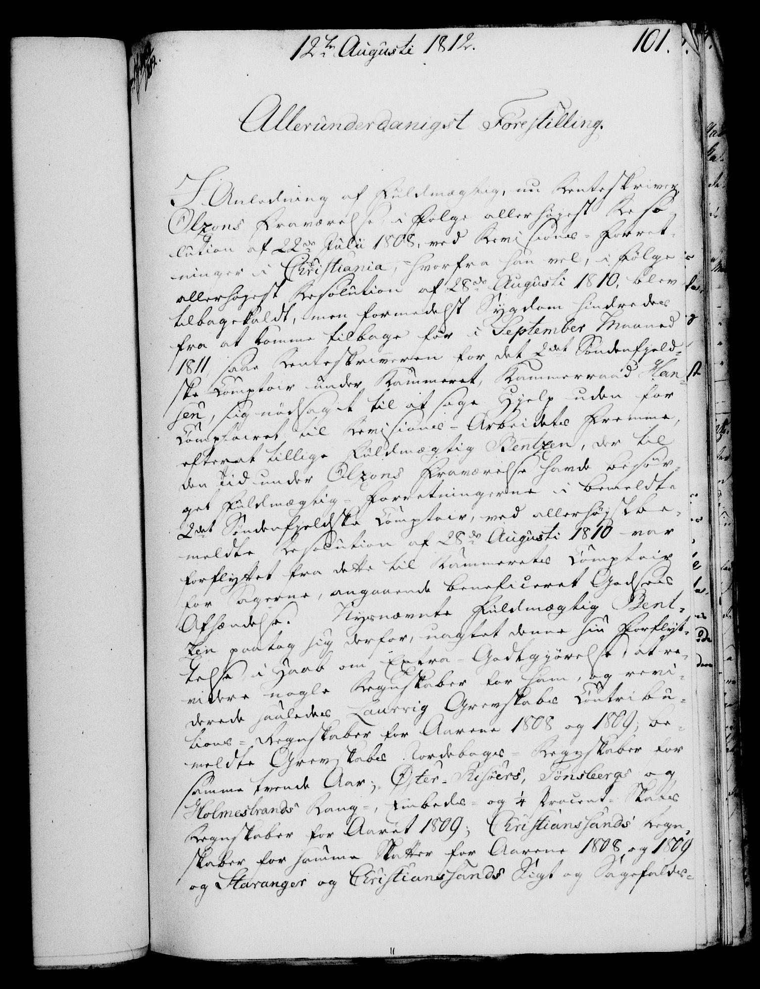 RA, Rentekammeret, Kammerkanselliet, G/Gf/Gfa/L0094: Norsk relasjons- og resolusjonsprotokoll (merket RK 52.94), 1812, s. 403