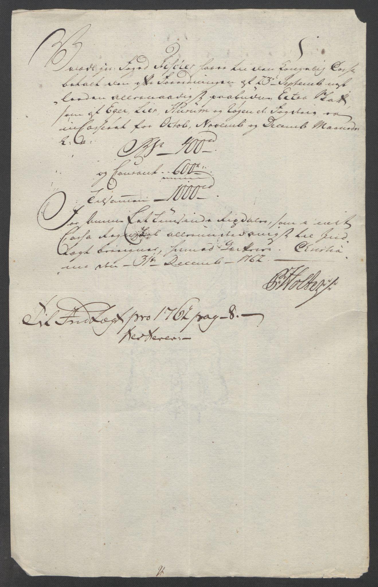 RA, Rentekammeret inntil 1814, Reviderte regnskaper, Fogderegnskap, R31/L1833: Ekstraskatten Hurum, Røyken, Eiker, Lier og Buskerud, 1762-1764, s. 46