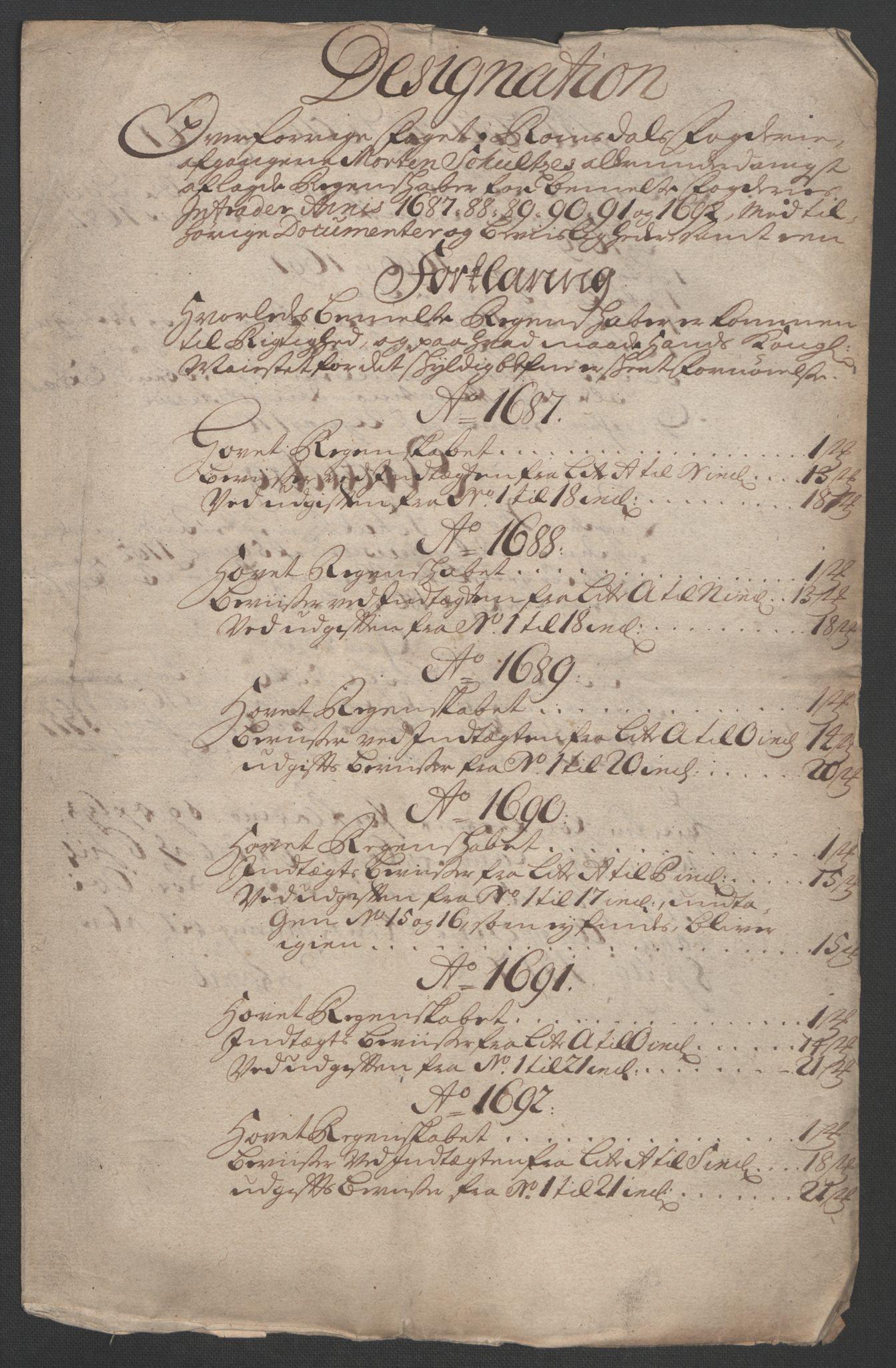RA, Rentekammeret inntil 1814, Reviderte regnskaper, Fogderegnskap, R55/L3650: Fogderegnskap Romsdal, 1692, s. 306