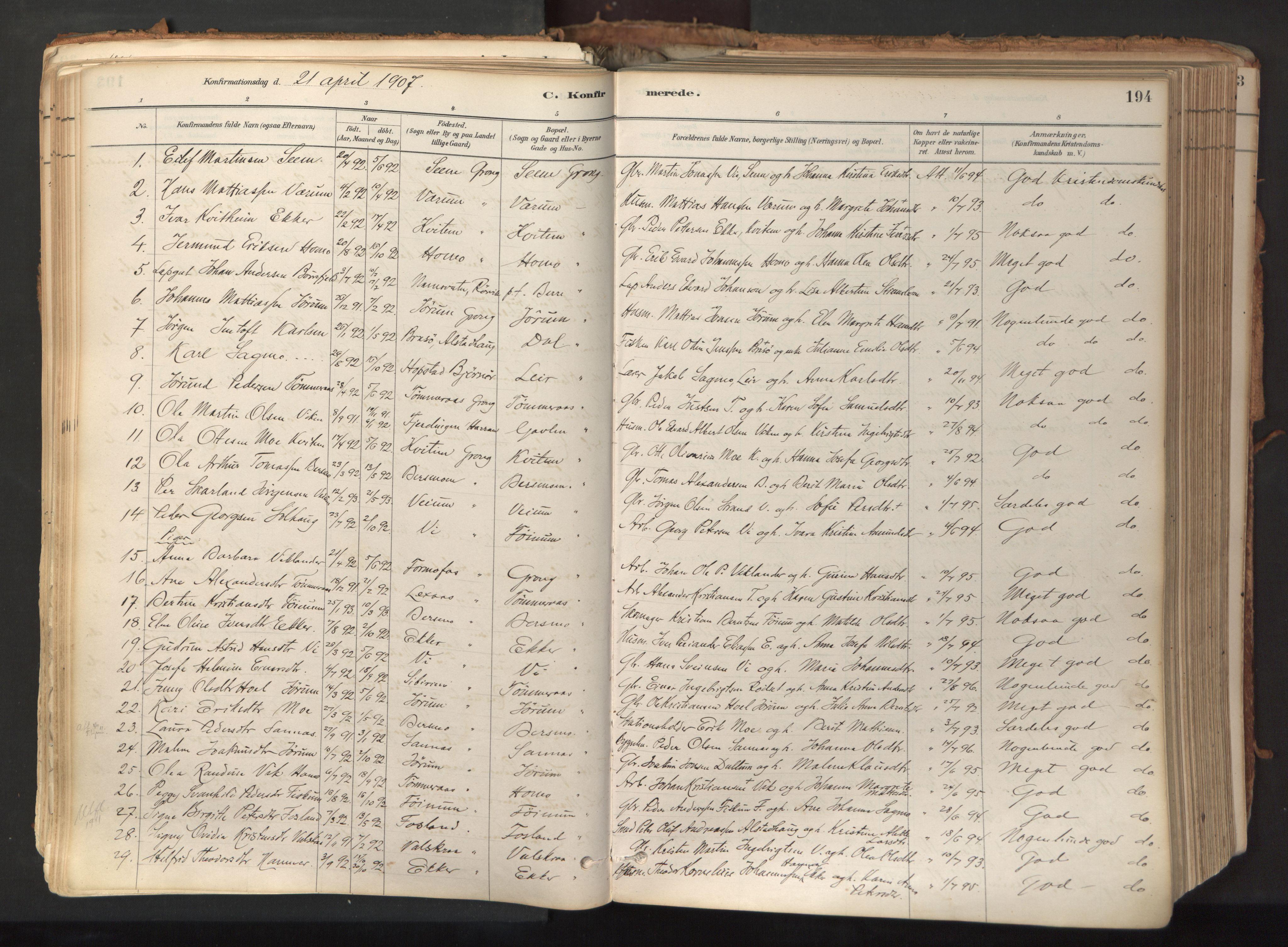 SAT, Ministerialprotokoller, klokkerbøker og fødselsregistre - Nord-Trøndelag, 758/L0519: Ministerialbok nr. 758A04, 1880-1926, s. 194