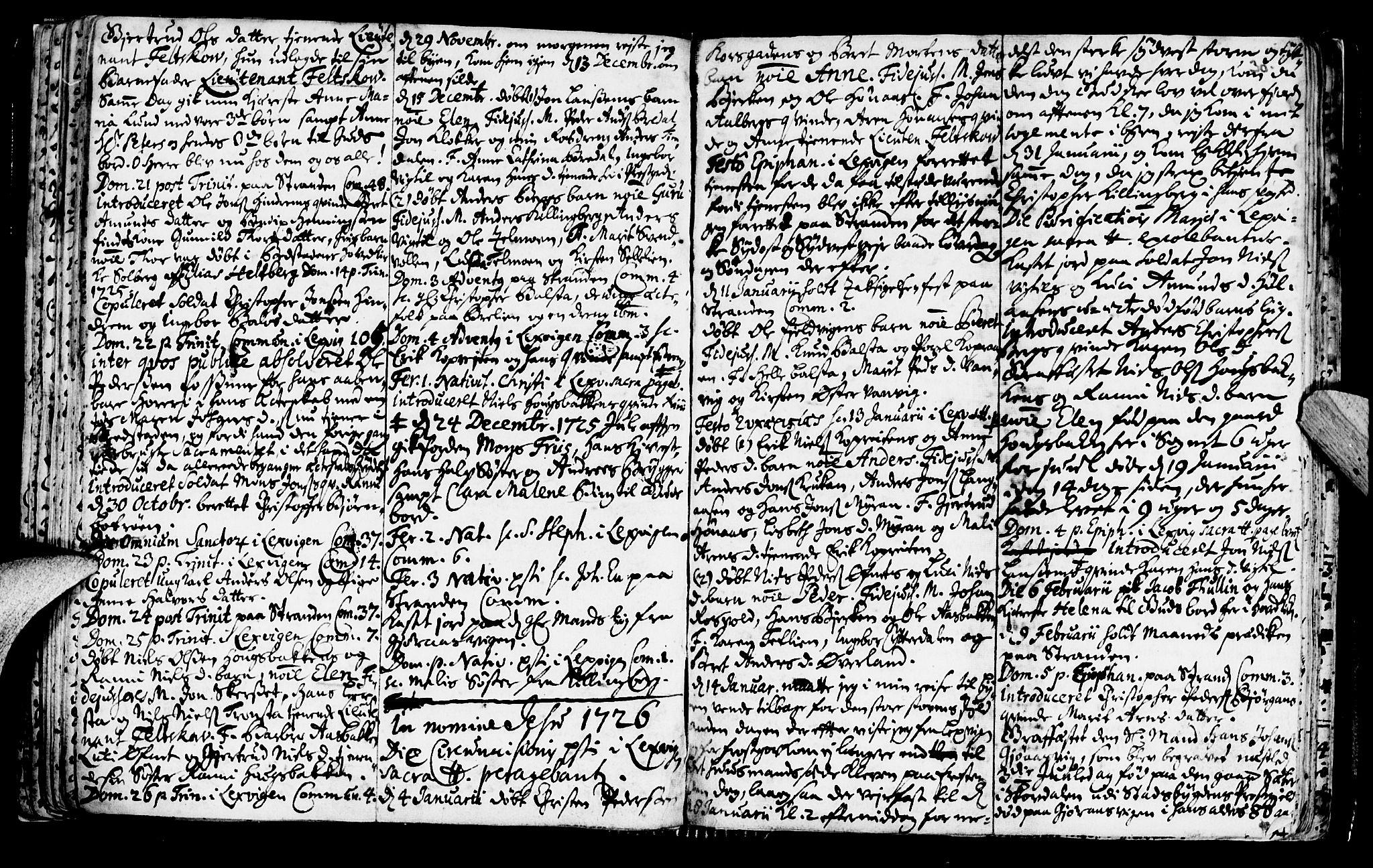 SAT, Ministerialprotokoller, klokkerbøker og fødselsregistre - Nord-Trøndelag, 701/L0001: Ministerialbok nr. 701A01, 1717-1731, s. 30