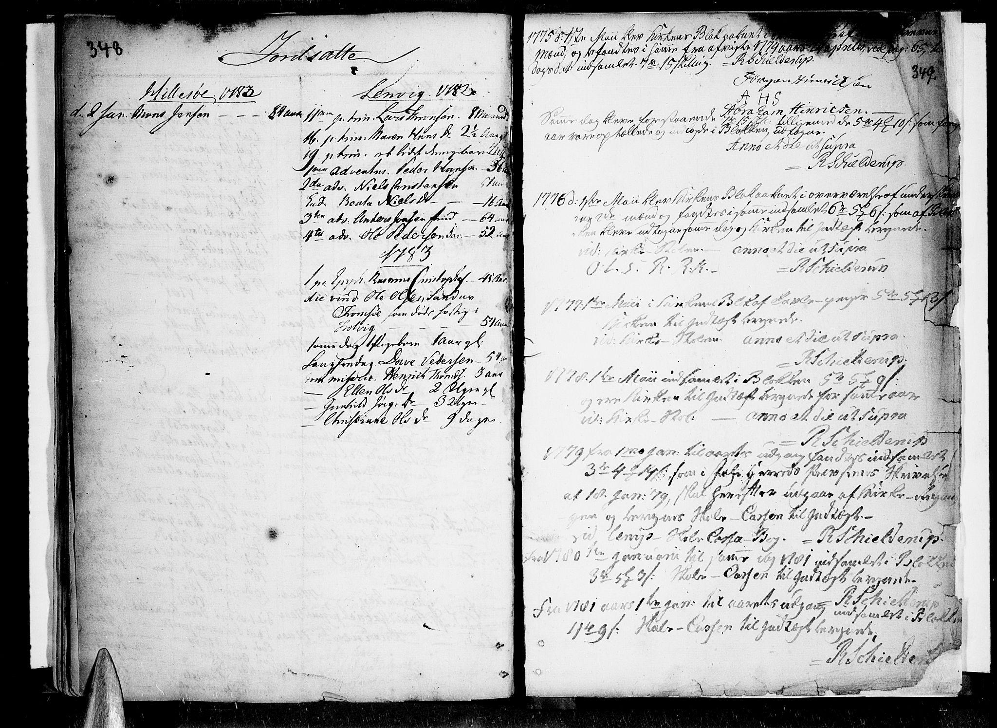 SATØ, Lenvik sokneprestembete, H/Ha: Ministerialbok nr. 1, 1753-1783, s. 348-349