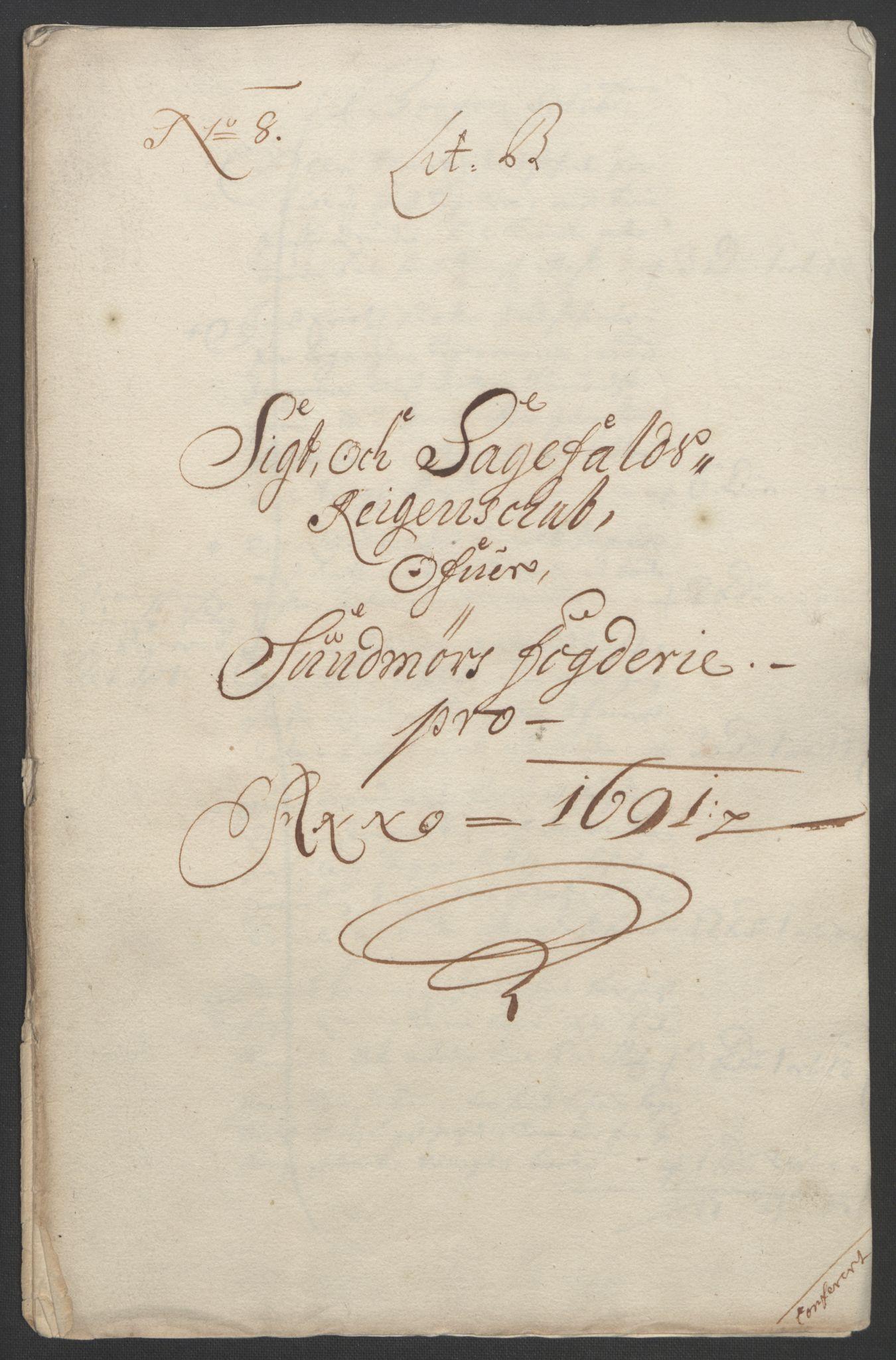 RA, Rentekammeret inntil 1814, Reviderte regnskaper, Fogderegnskap, R54/L3554: Fogderegnskap Sunnmøre, 1691-1693, s. 56