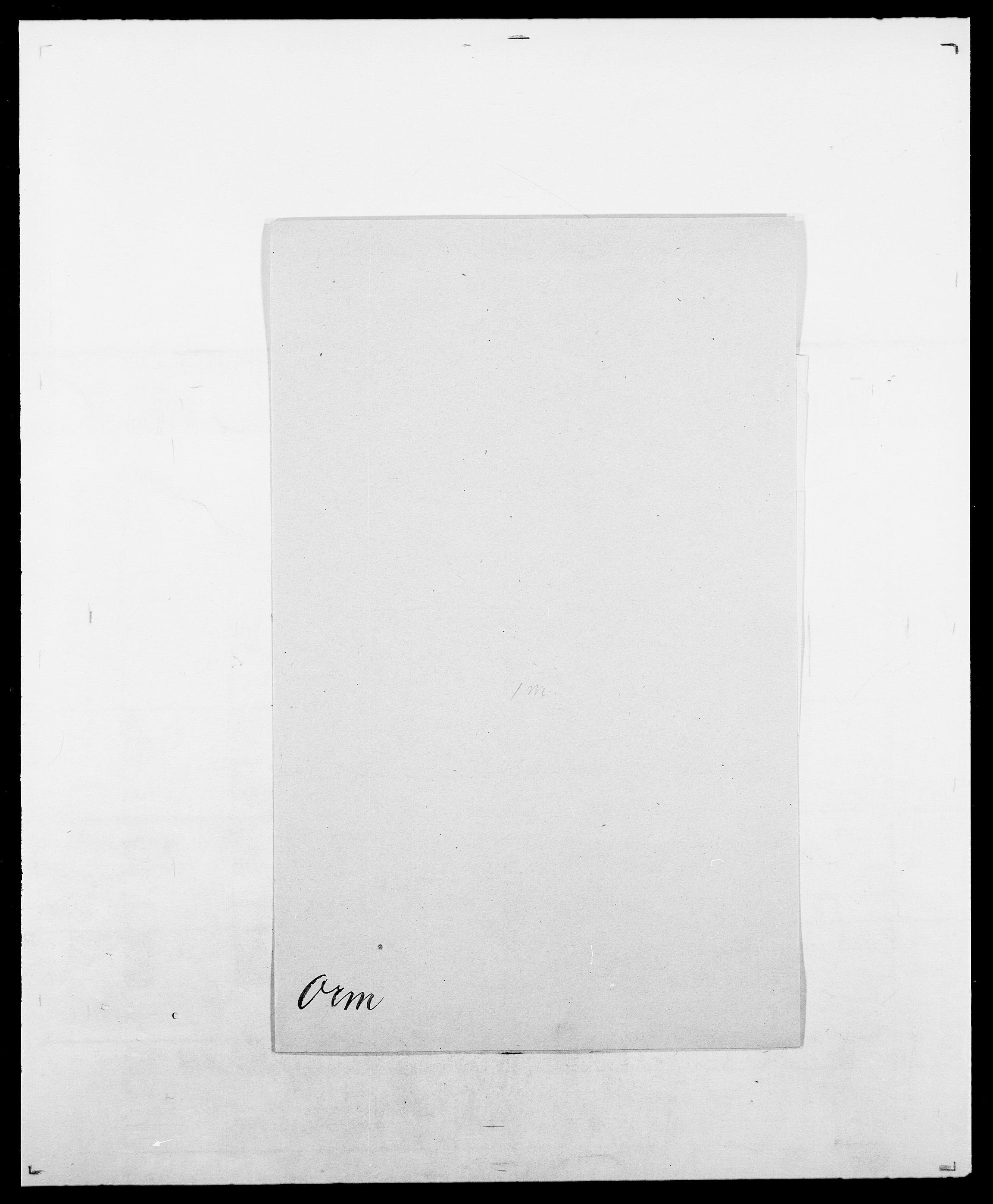 SAO, Delgobe, Charles Antoine - samling, D/Da/L0029: Obel - Oxholm, s. 412