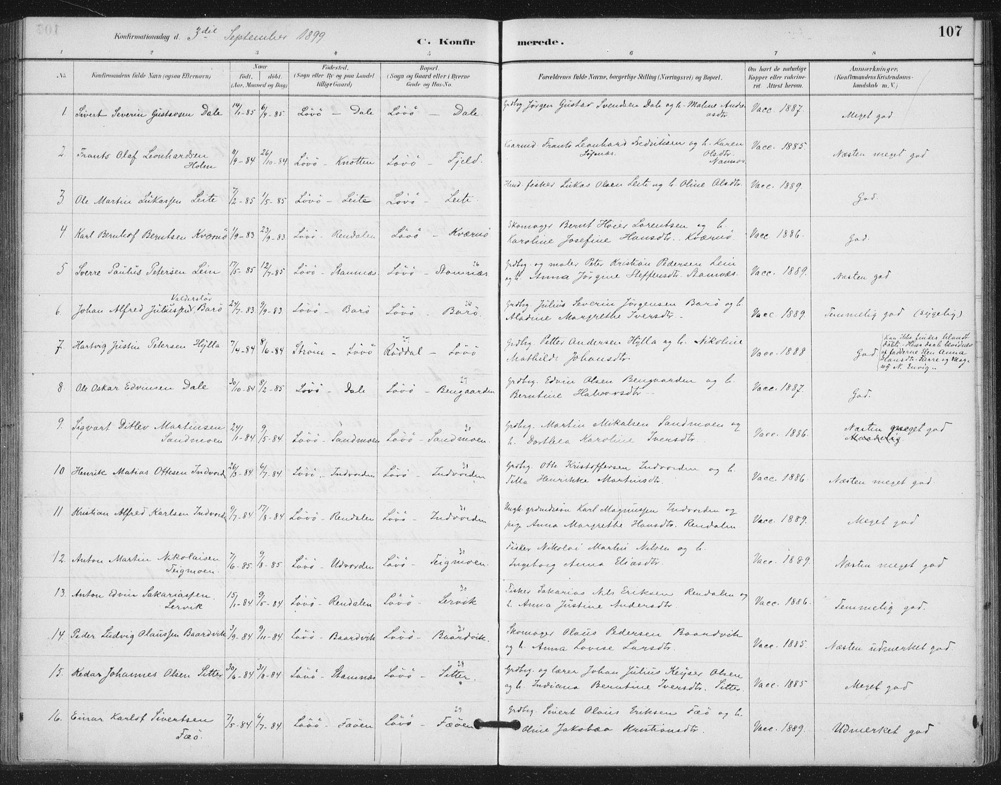 SAT, Ministerialprotokoller, klokkerbøker og fødselsregistre - Nord-Trøndelag, 772/L0603: Ministerialbok nr. 772A01, 1885-1912, s. 107