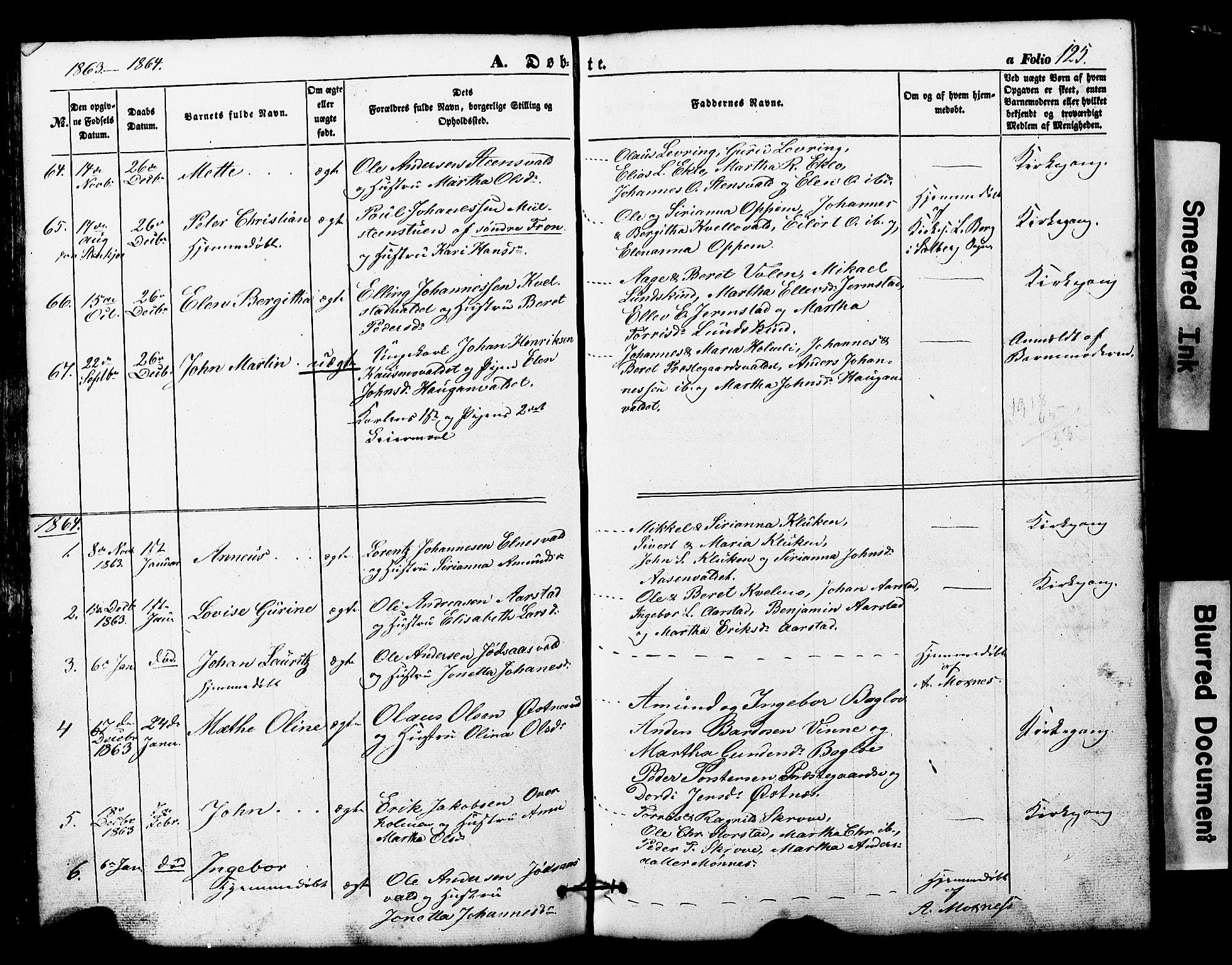 SAT, Ministerialprotokoller, klokkerbøker og fødselsregistre - Nord-Trøndelag, 724/L0268: Klokkerbok nr. 724C04, 1846-1878, s. 125