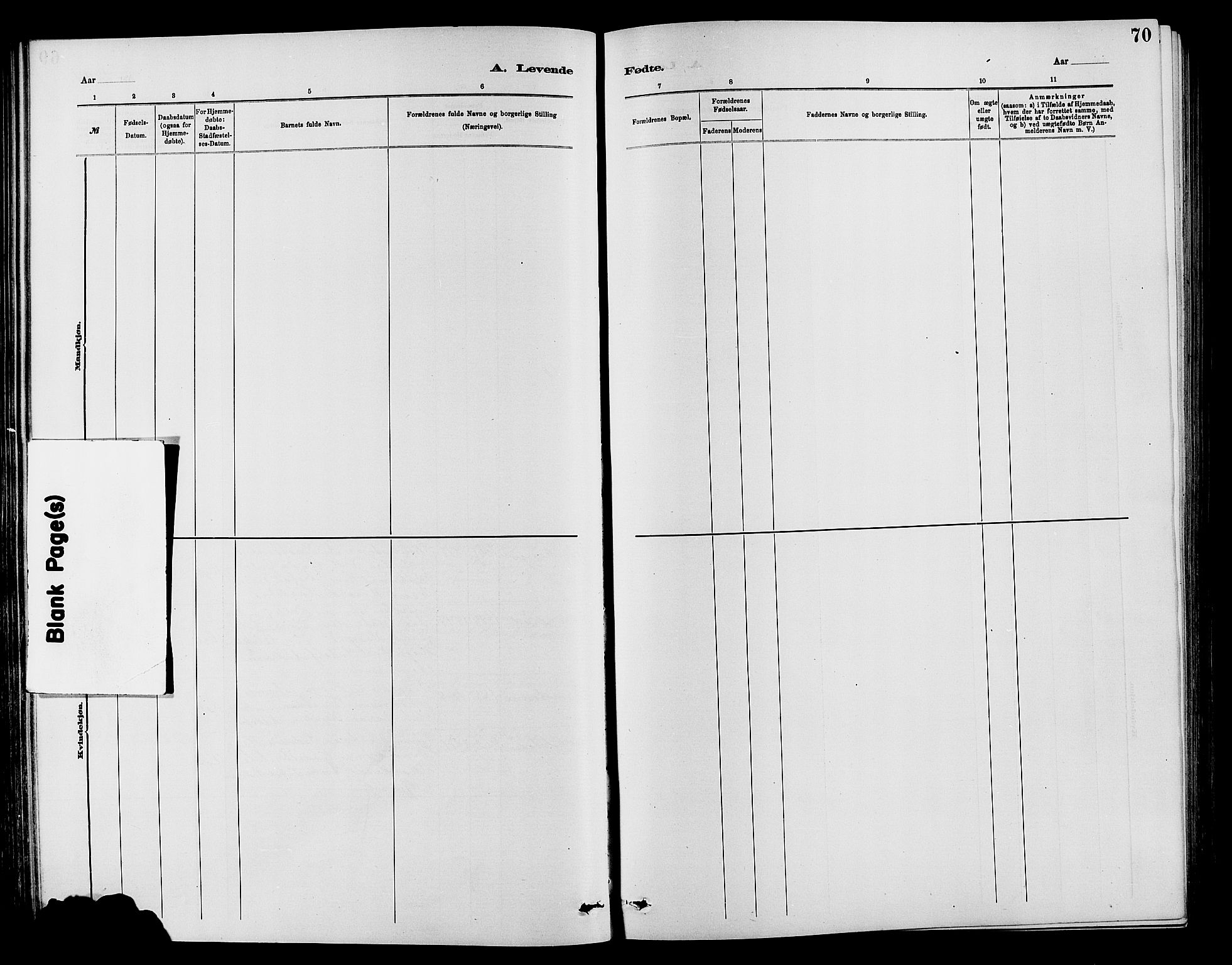 SAH, Vardal prestekontor, H/Ha/Hab/L0007: Klokkerbok nr. 7 /1, 1881-1895, s. 70
