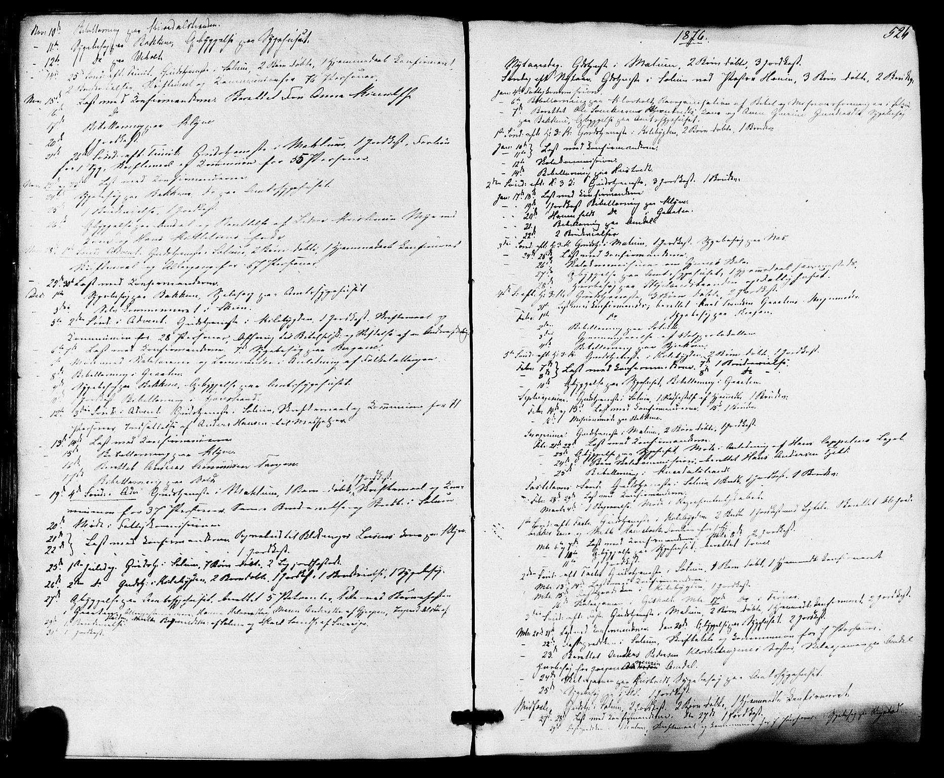 SAKO, Solum kirkebøker, F/Fa/L0008: Ministerialbok nr. I 8, 1865-1876, s. 526
