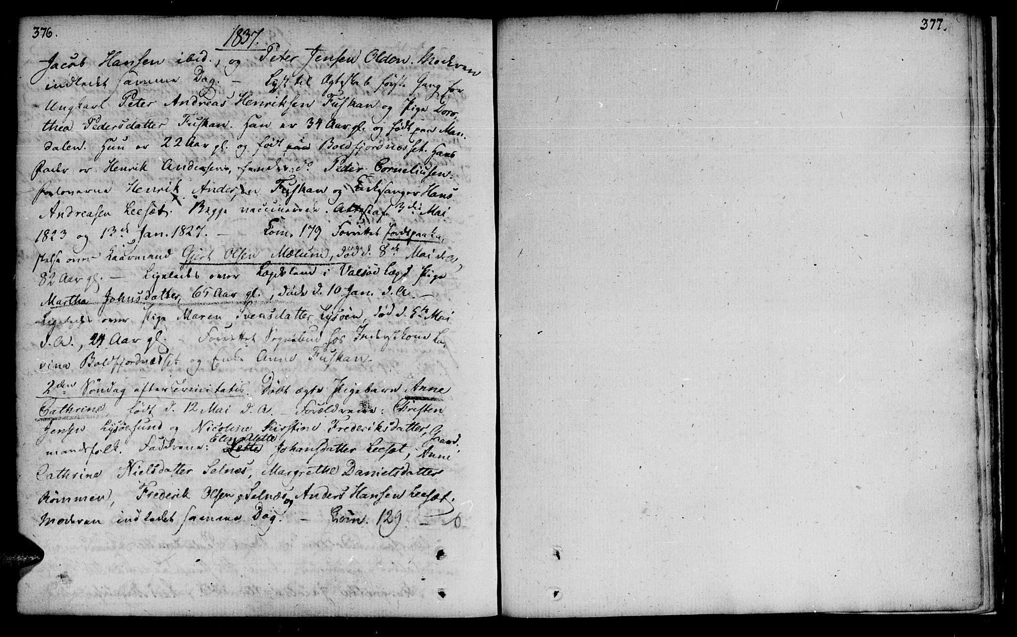 SAT, Ministerialprotokoller, klokkerbøker og fødselsregistre - Sør-Trøndelag, 655/L0674: Ministerialbok nr. 655A03, 1802-1826, s. 376-377