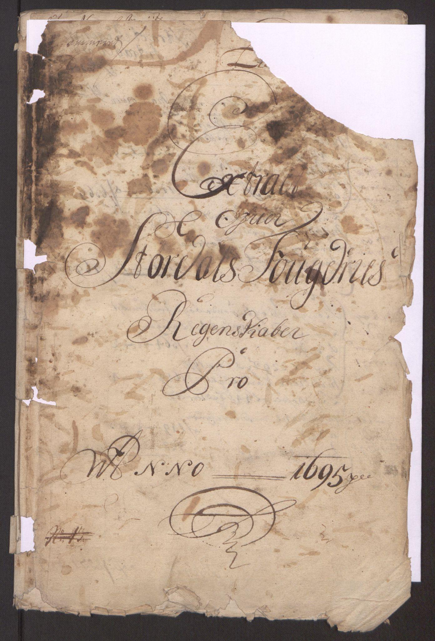 RA, Rentekammeret inntil 1814, Reviderte regnskaper, Fogderegnskap, R62/L4187: Fogderegnskap Stjørdal og Verdal, 1695, s. 4