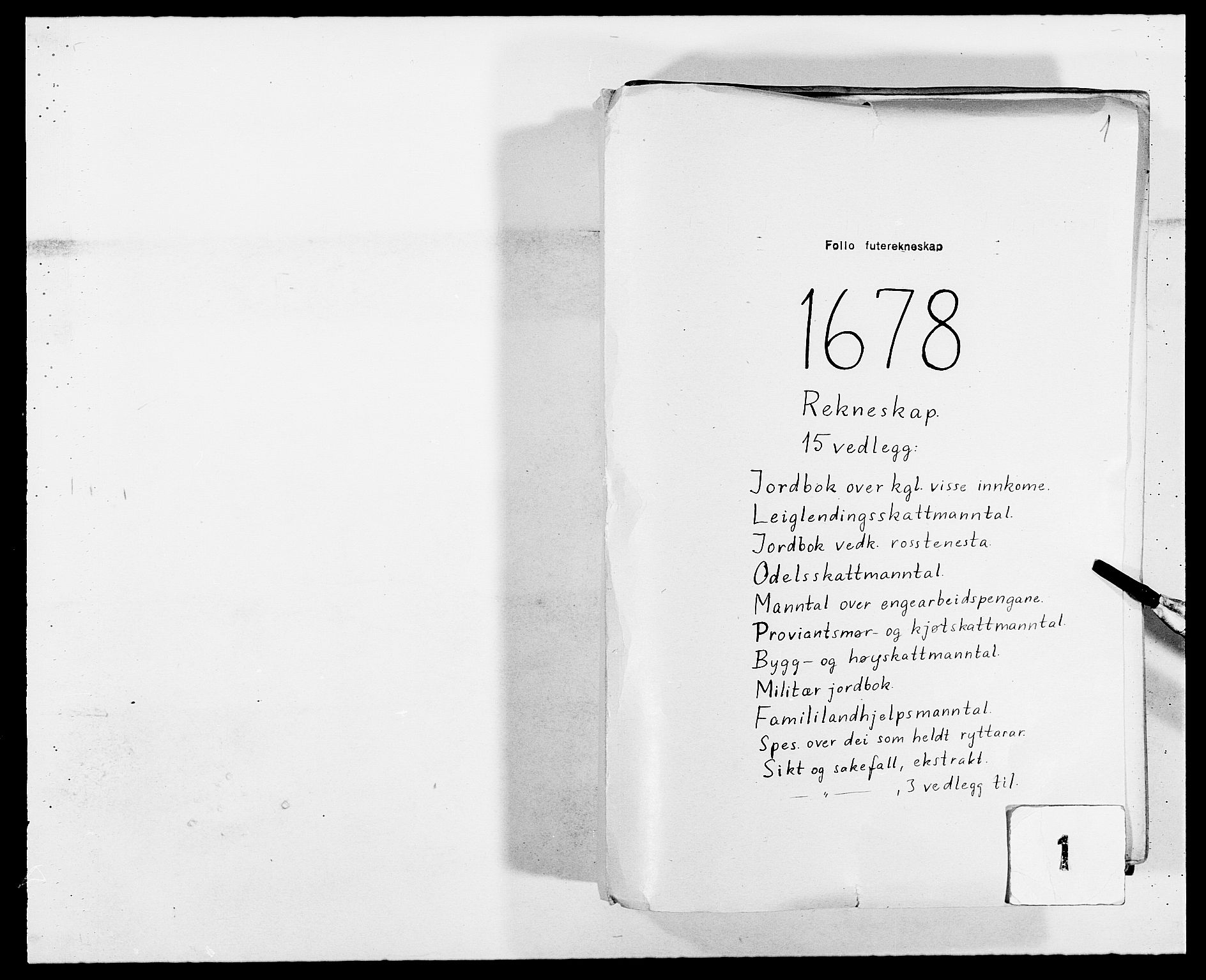 RA, Rentekammeret inntil 1814, Reviderte regnskaper, Fogderegnskap, R09/L0427: Fogderegnskap Follo, 1678, s. 1