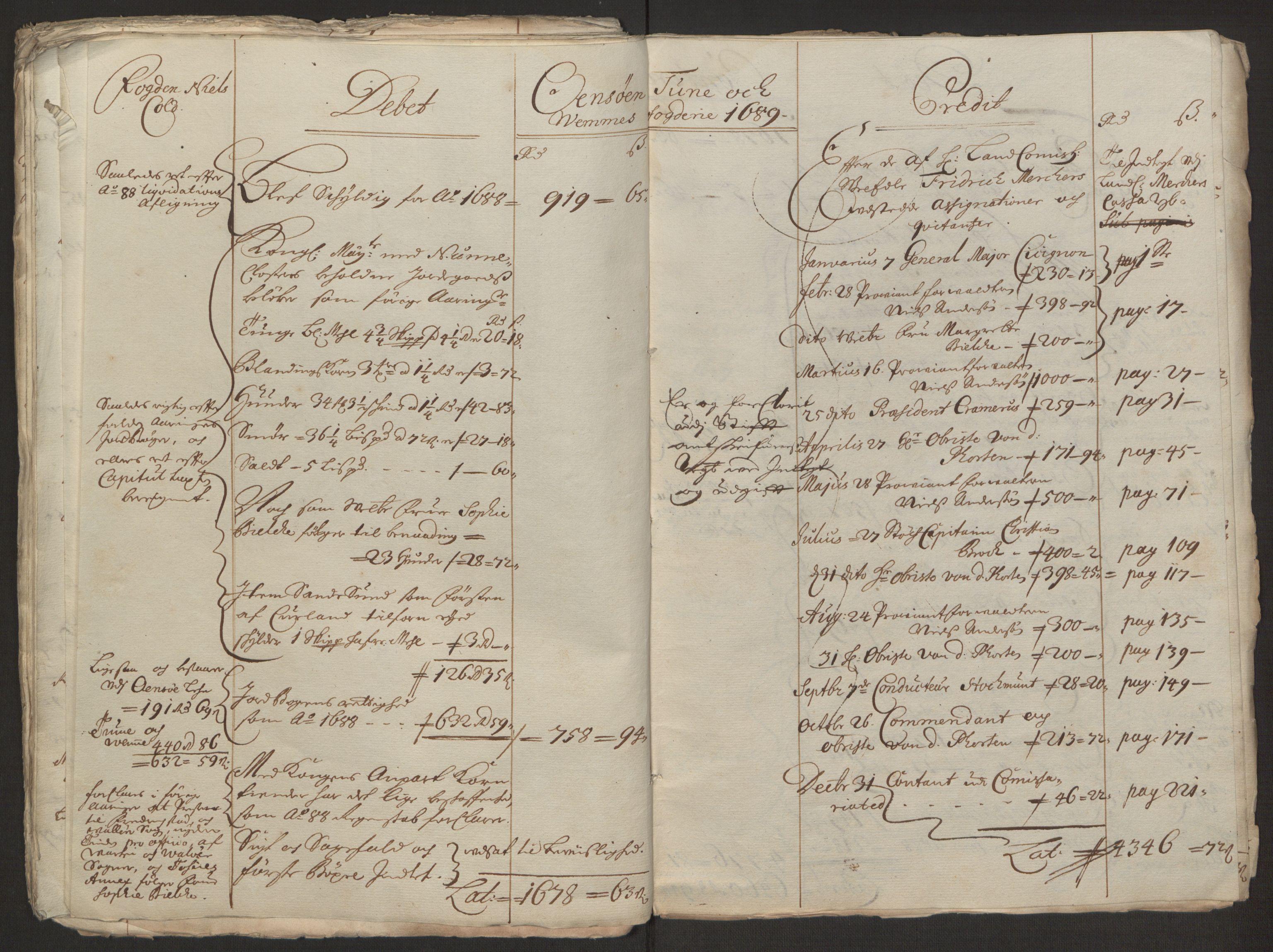 RA, Rentekammeret inntil 1814, Reviderte regnskaper, Fogderegnskap, R03/L0118: Fogderegnskap Onsøy, Tune, Veme og Åbygge fogderi, 1684-1689, s. 103
