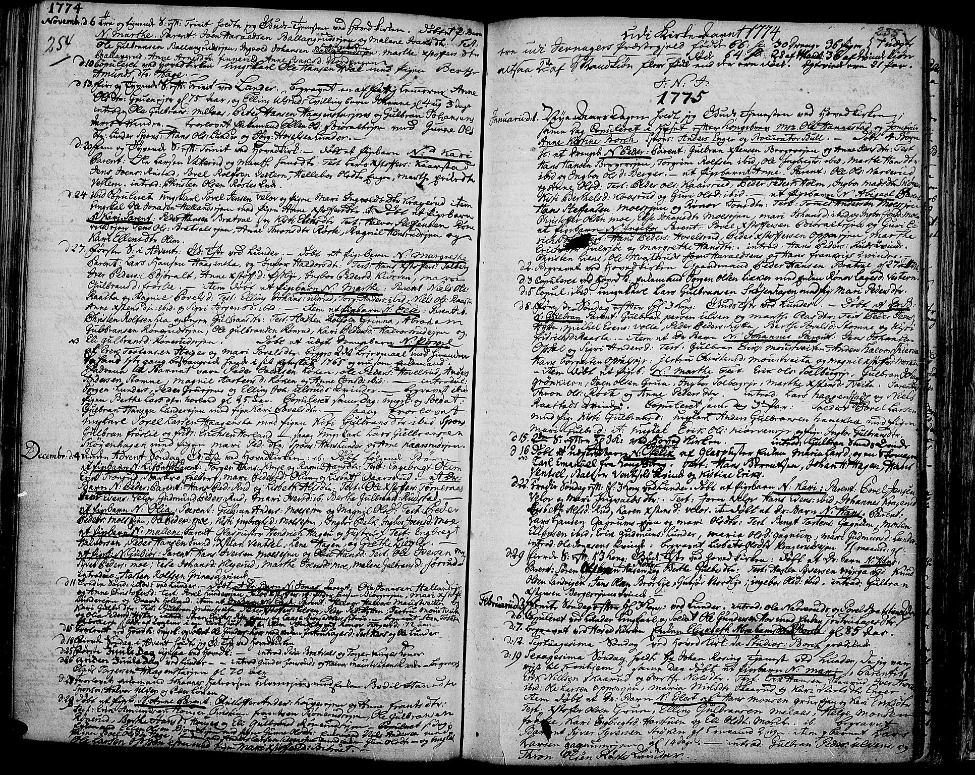SAH, Jevnaker prestekontor, Ministerialbok nr. 3, 1752-1799, s. 254-255