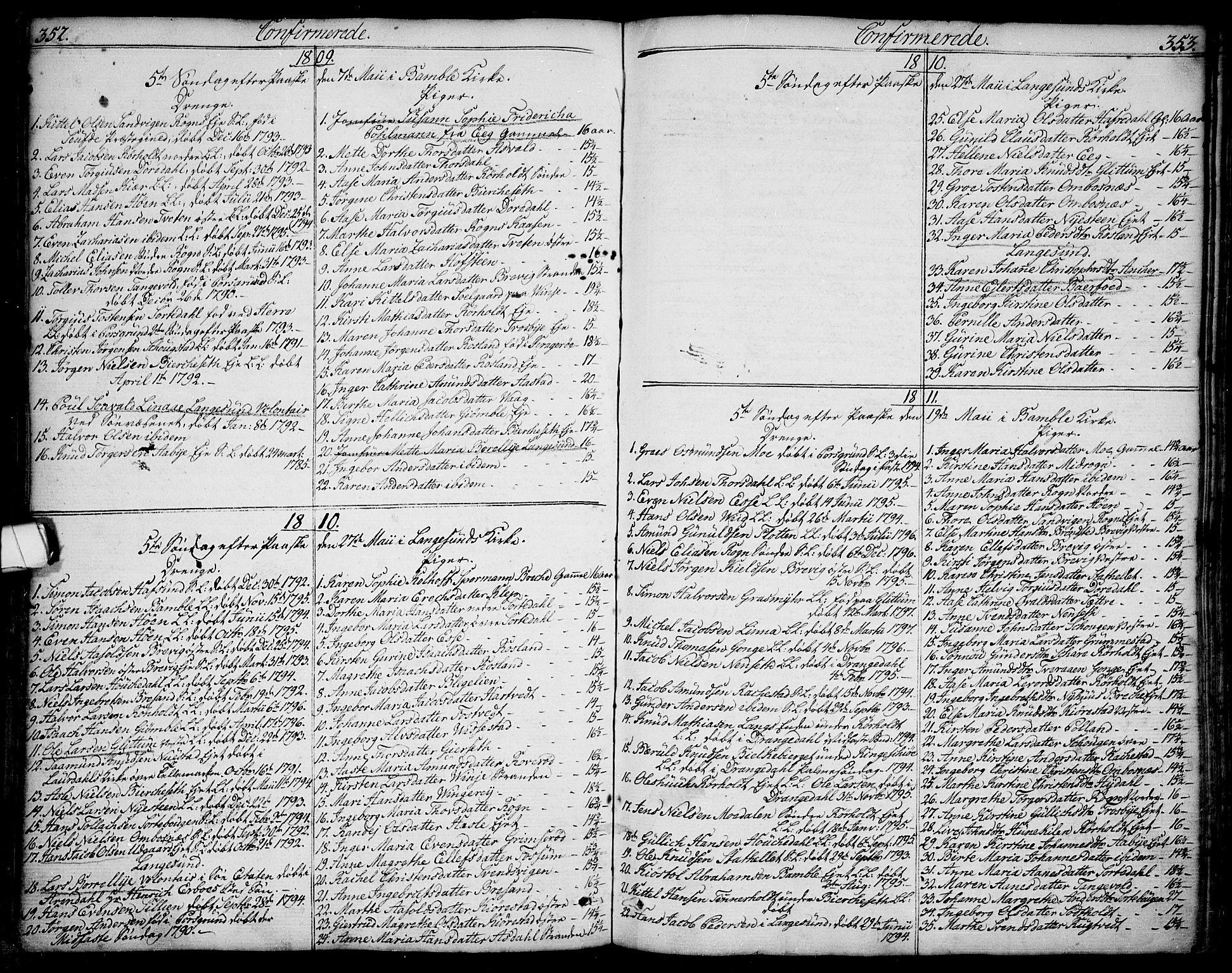 SAKO, Bamble kirkebøker, F/Fa/L0002: Ministerialbok nr. I 2, 1775-1814, s. 352-353