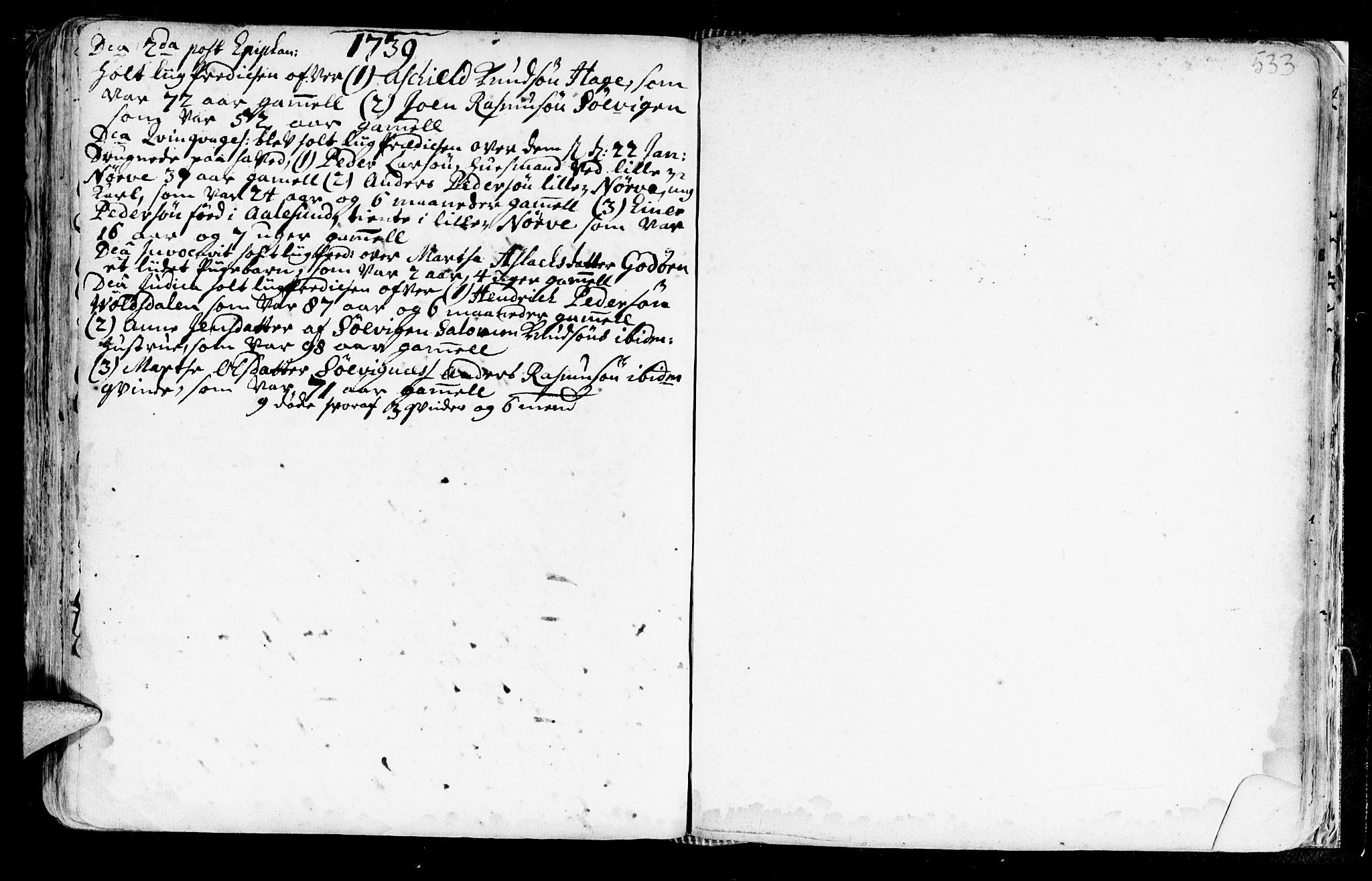 SAT, Ministerialprotokoller, klokkerbøker og fødselsregistre - Møre og Romsdal, 528/L0390: Ministerialbok nr. 528A01, 1698-1739, s. 532-533