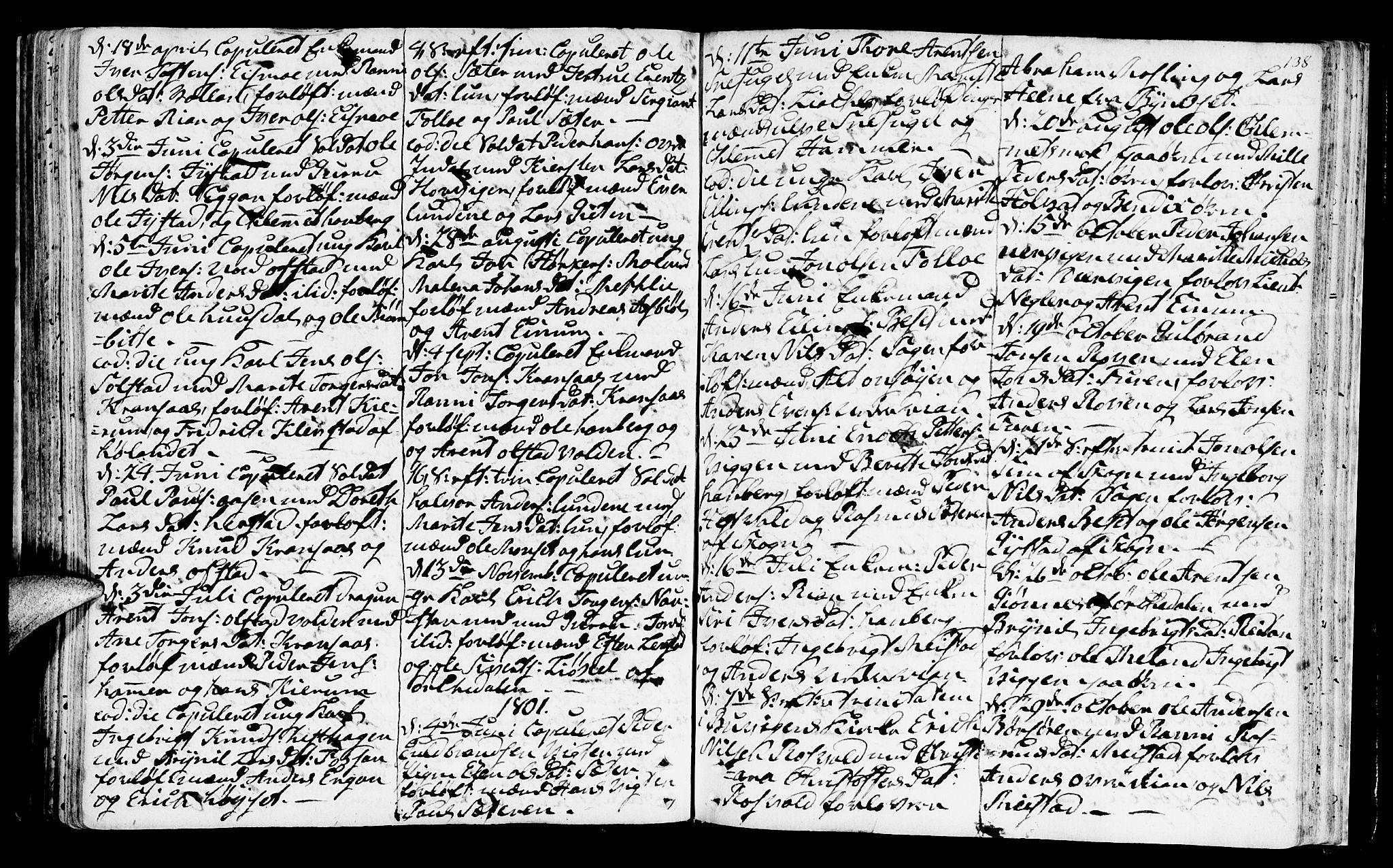 SAT, Ministerialprotokoller, klokkerbøker og fødselsregistre - Sør-Trøndelag, 665/L0768: Ministerialbok nr. 665A03, 1754-1803, s. 138
