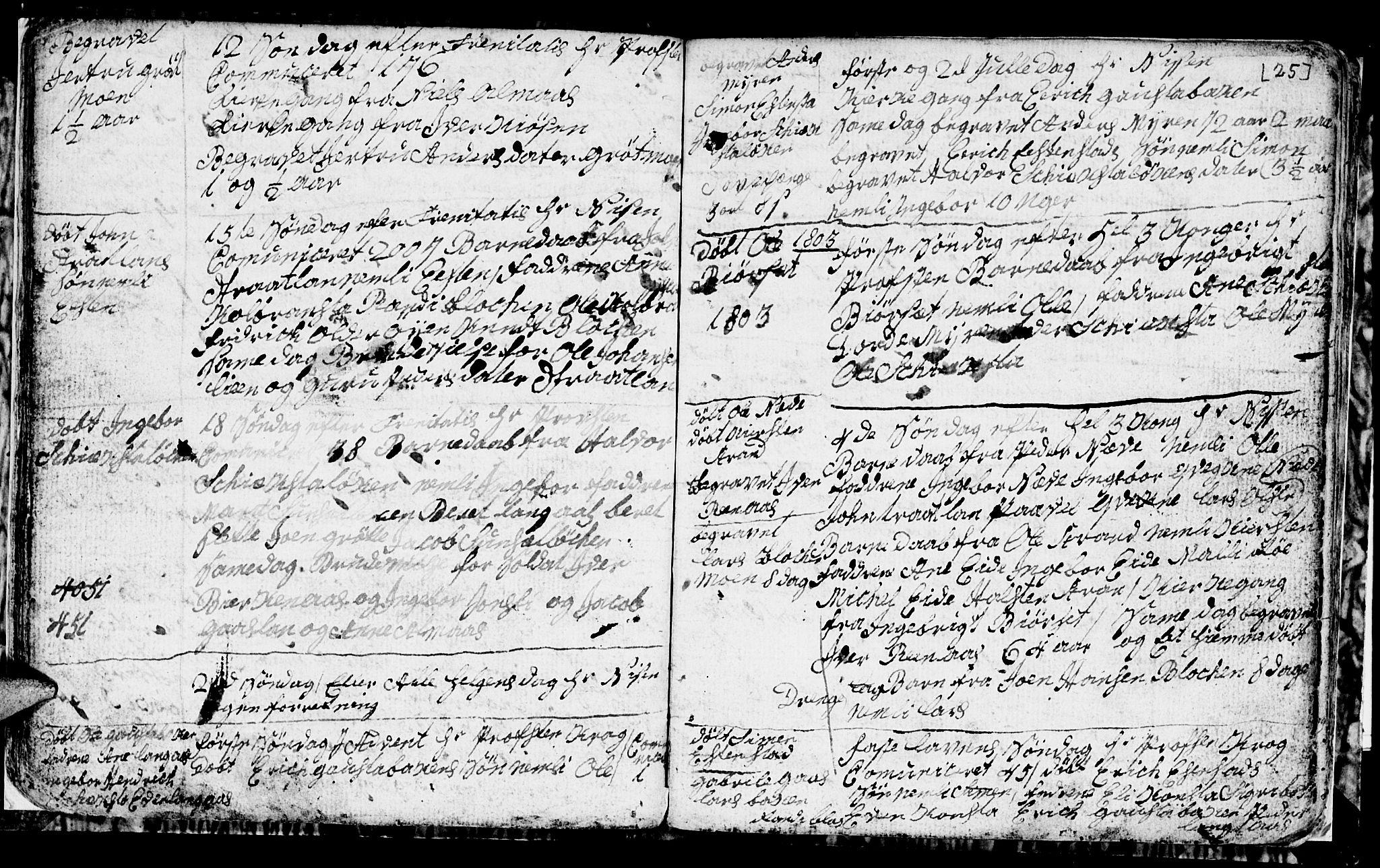 SAT, Ministerialprotokoller, klokkerbøker og fødselsregistre - Sør-Trøndelag, 694/L1129: Klokkerbok nr. 694C01, 1793-1815, s. 25