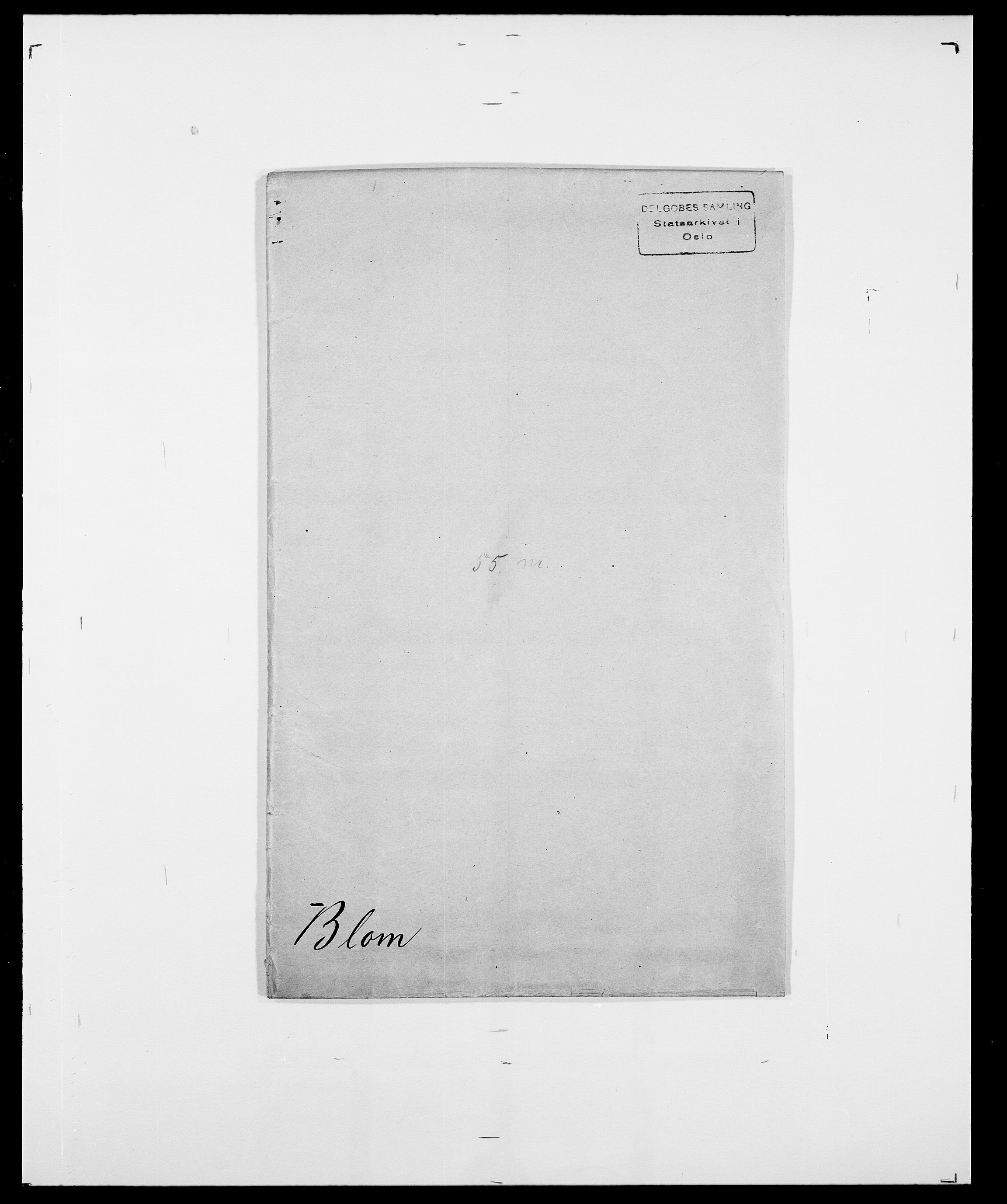 SAO, Delgobe, Charles Antoine - samling, D/Da/L0004: Bergendahl - Blære, s. 696