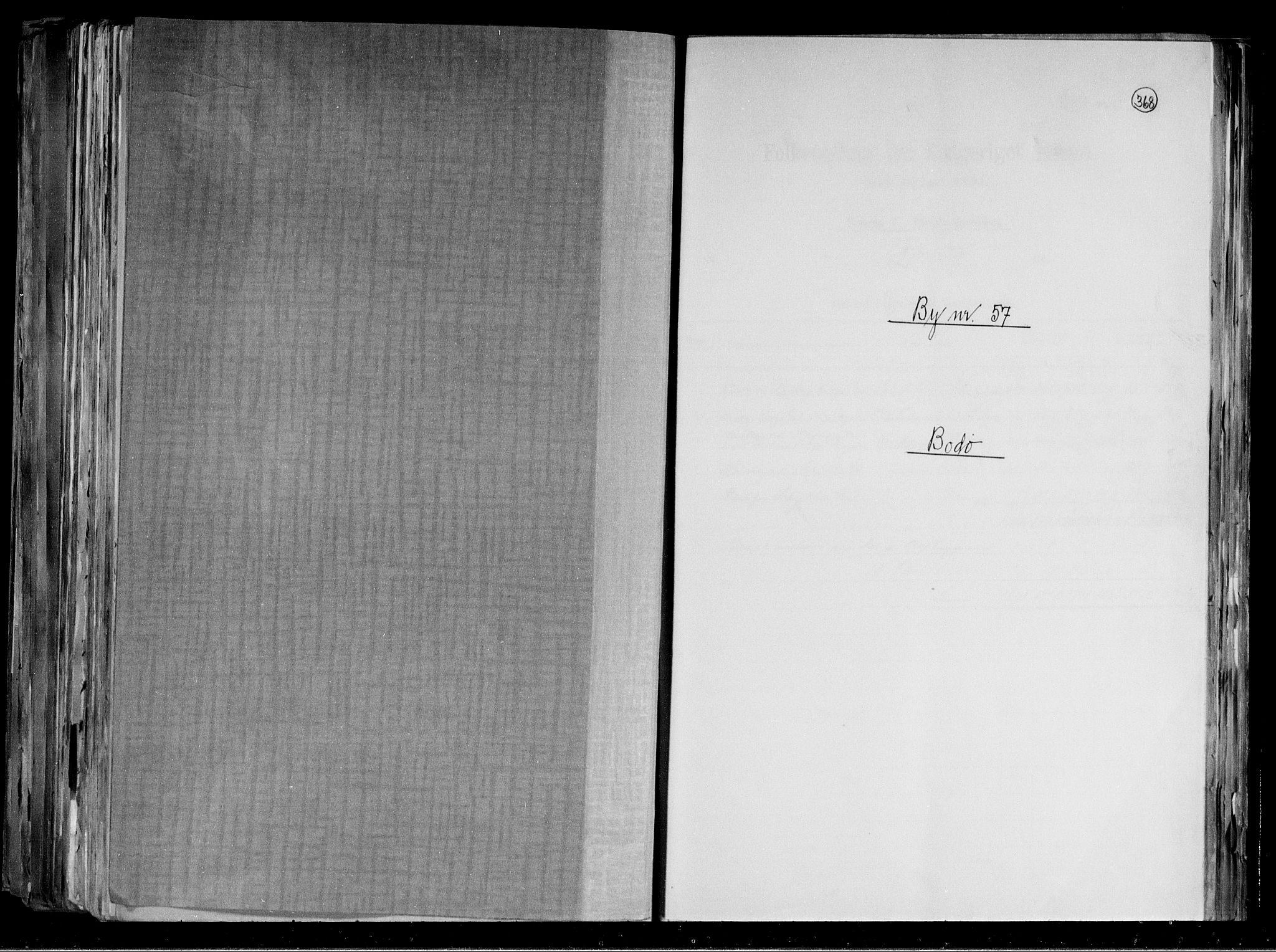 RA, Folketelling 1891 for 1804 Bodø kjøpstad, 1891, s. 1