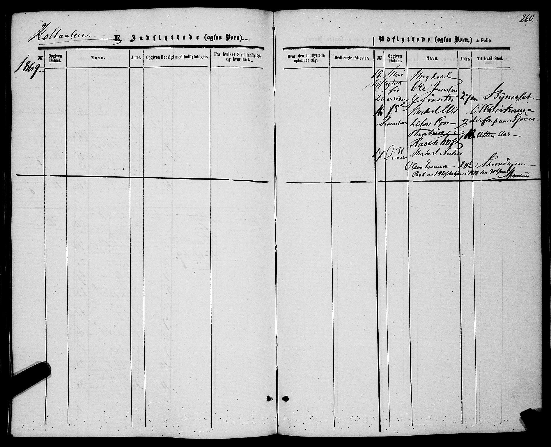 SAT, Ministerialprotokoller, klokkerbøker og fødselsregistre - Sør-Trøndelag, 685/L0966: Ministerialbok nr. 685A07 /1, 1860-1869, s. 260