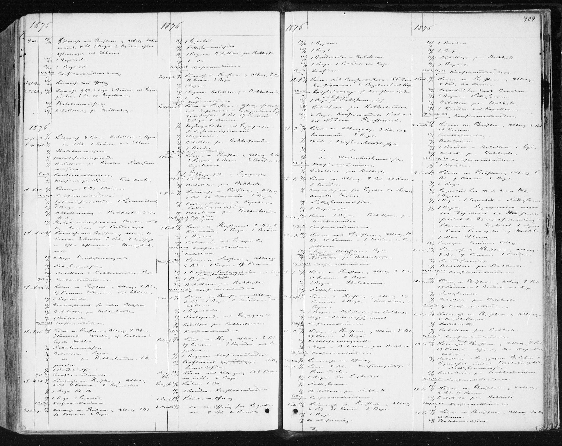 SAT, Ministerialprotokoller, klokkerbøker og fødselsregistre - Sør-Trøndelag, 604/L0186: Ministerialbok nr. 604A07, 1866-1877, s. 709