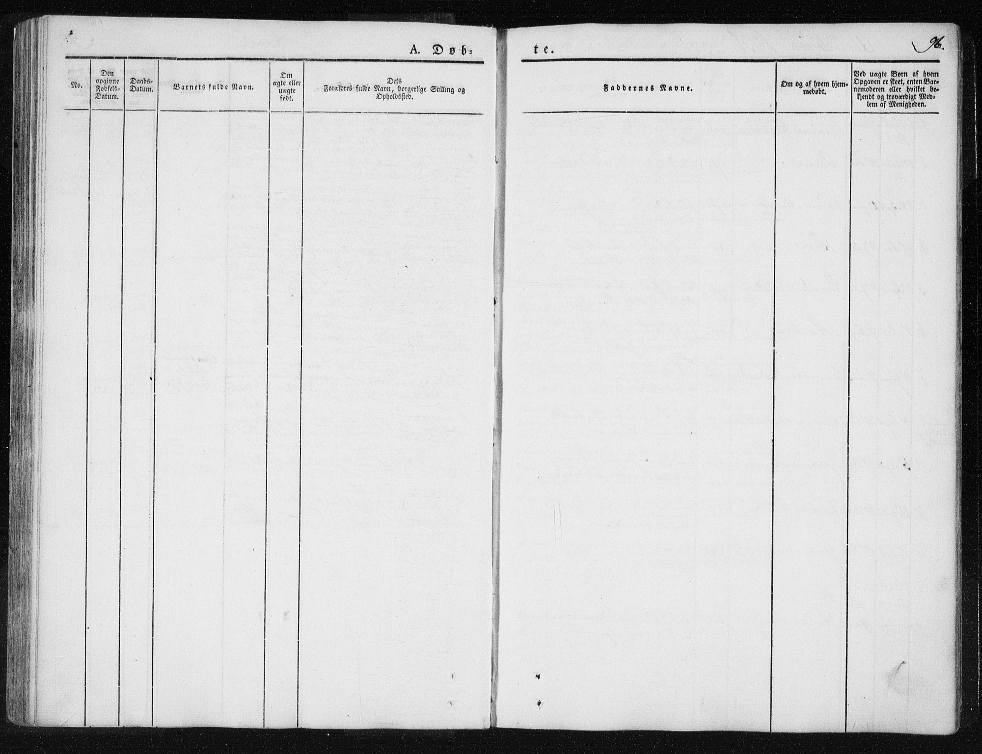 SAT, Ministerialprotokoller, klokkerbøker og fødselsregistre - Nord-Trøndelag, 735/L0339: Ministerialbok nr. 735A06 /2, 1836-1848, s. 96