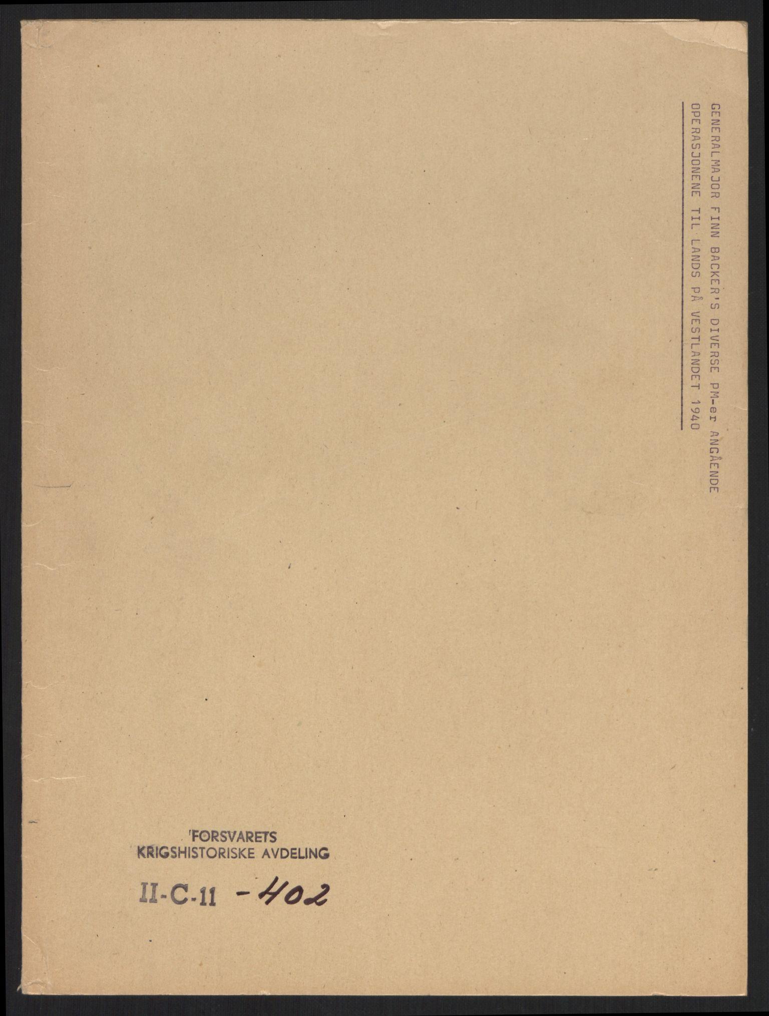 RA, Forsvaret, Forsvarets krigshistoriske avdeling, Y/Yb/L0100: II-C-11-401-402  -  4. Divisjon., 1940-1962, s. 255