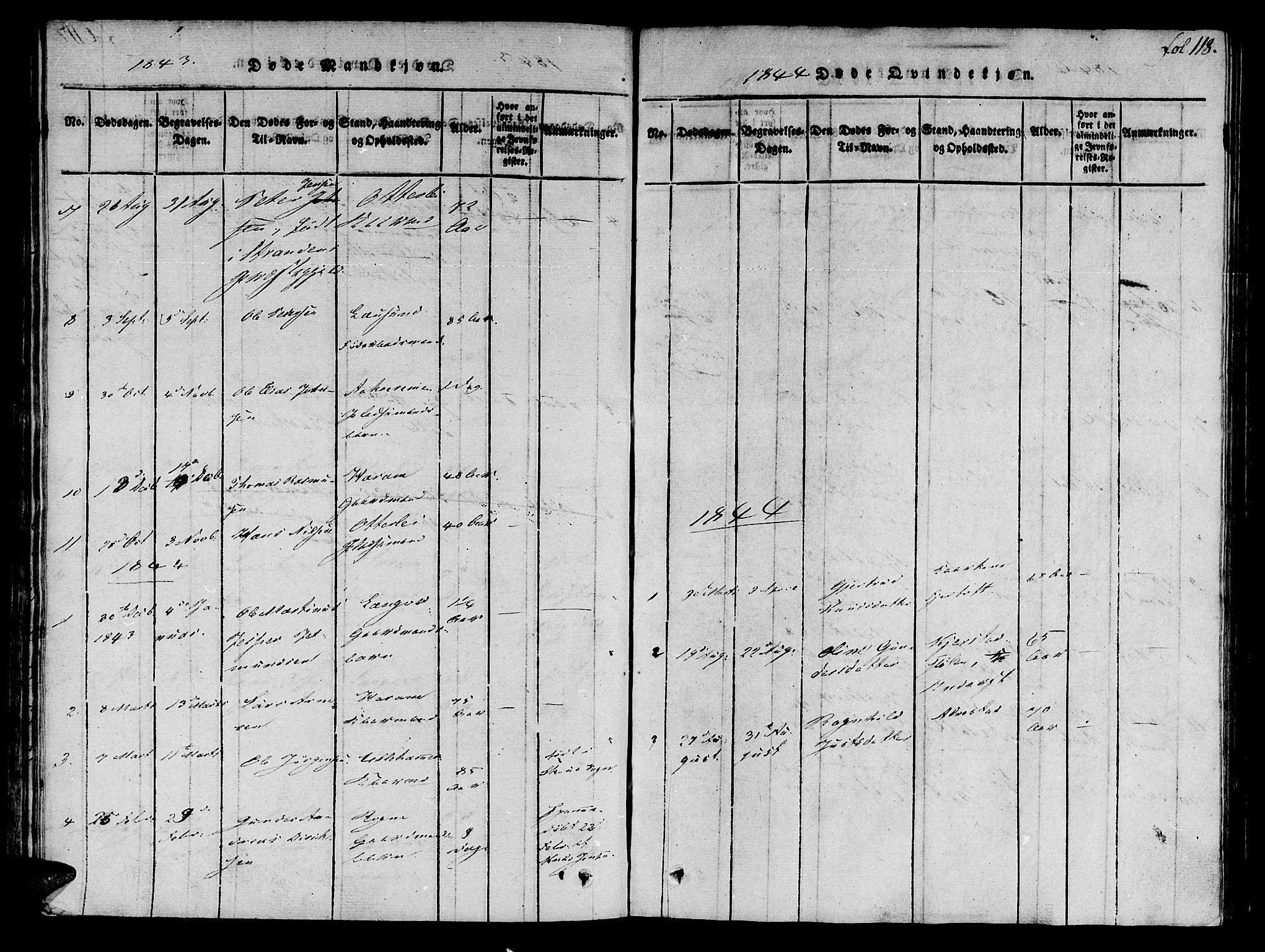 SAT, Ministerialprotokoller, klokkerbøker og fødselsregistre - Møre og Romsdal, 536/L0495: Ministerialbok nr. 536A04, 1818-1847, s. 118