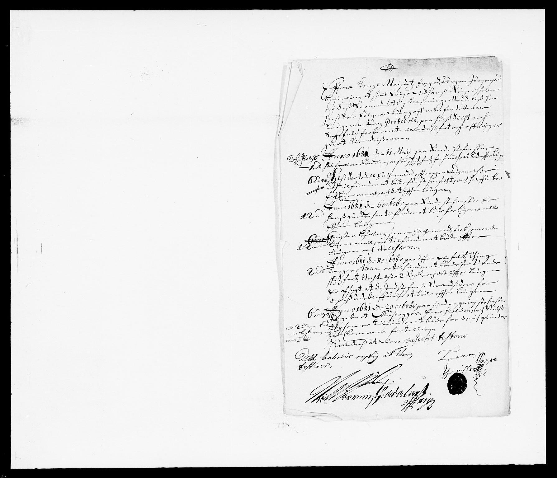 RA, Rentekammeret inntil 1814, Reviderte regnskaper, Fogderegnskap, R34/L2045: Fogderegnskap Bamble, 1680-1681, s. 229