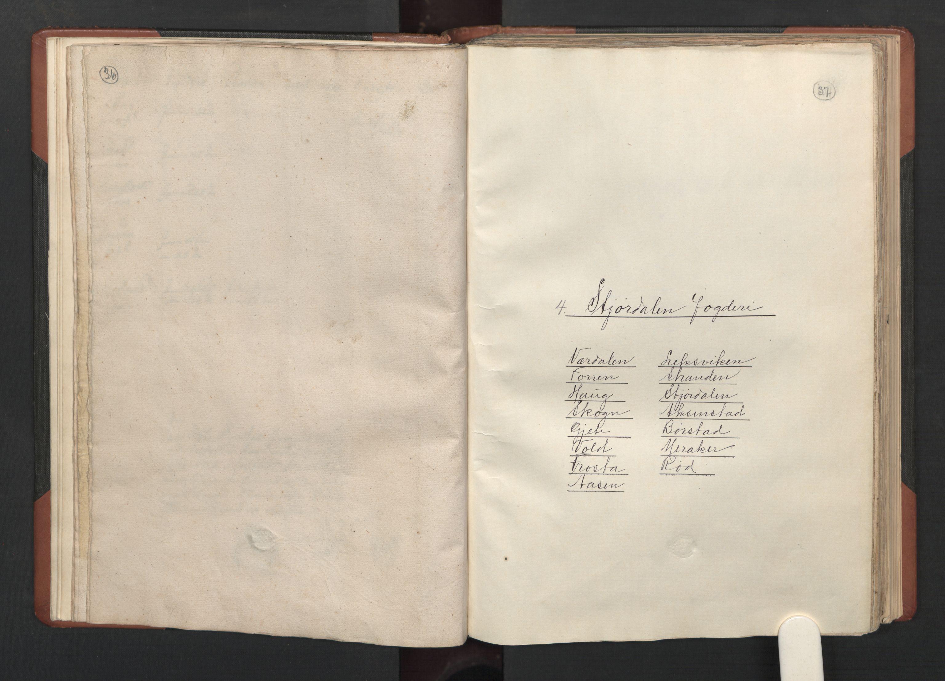 RA, Fogdenes og sorenskrivernes manntall 1664-1666, nr. 19: Fosen fogderi, Inderøy fogderi, Selbu fogderi, Namdal fogderi og Stjørdal fogderi, 1664-1665, s. 36-37