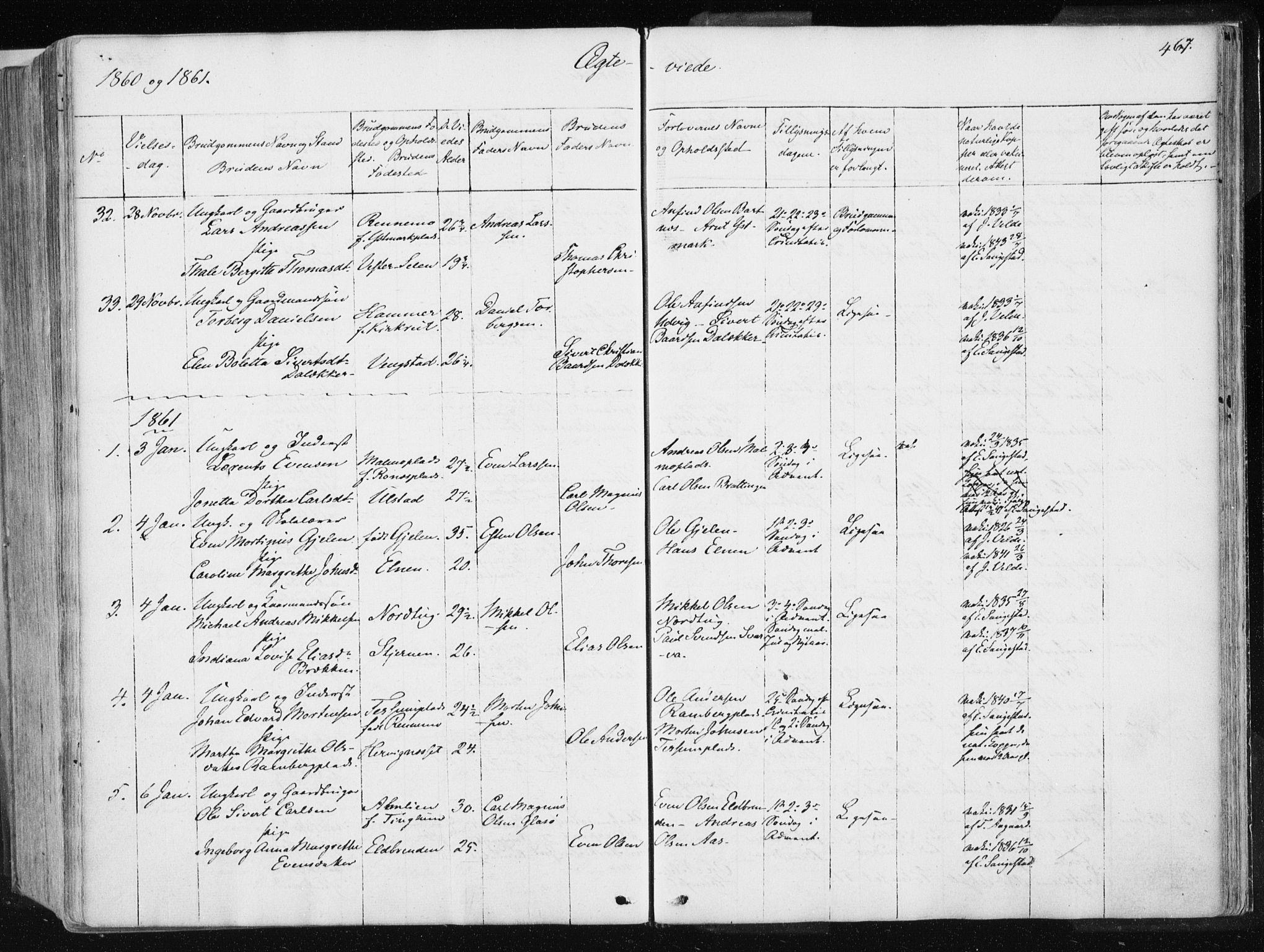 SAT, Ministerialprotokoller, klokkerbøker og fødselsregistre - Nord-Trøndelag, 741/L0393: Ministerialbok nr. 741A07, 1849-1863, s. 467