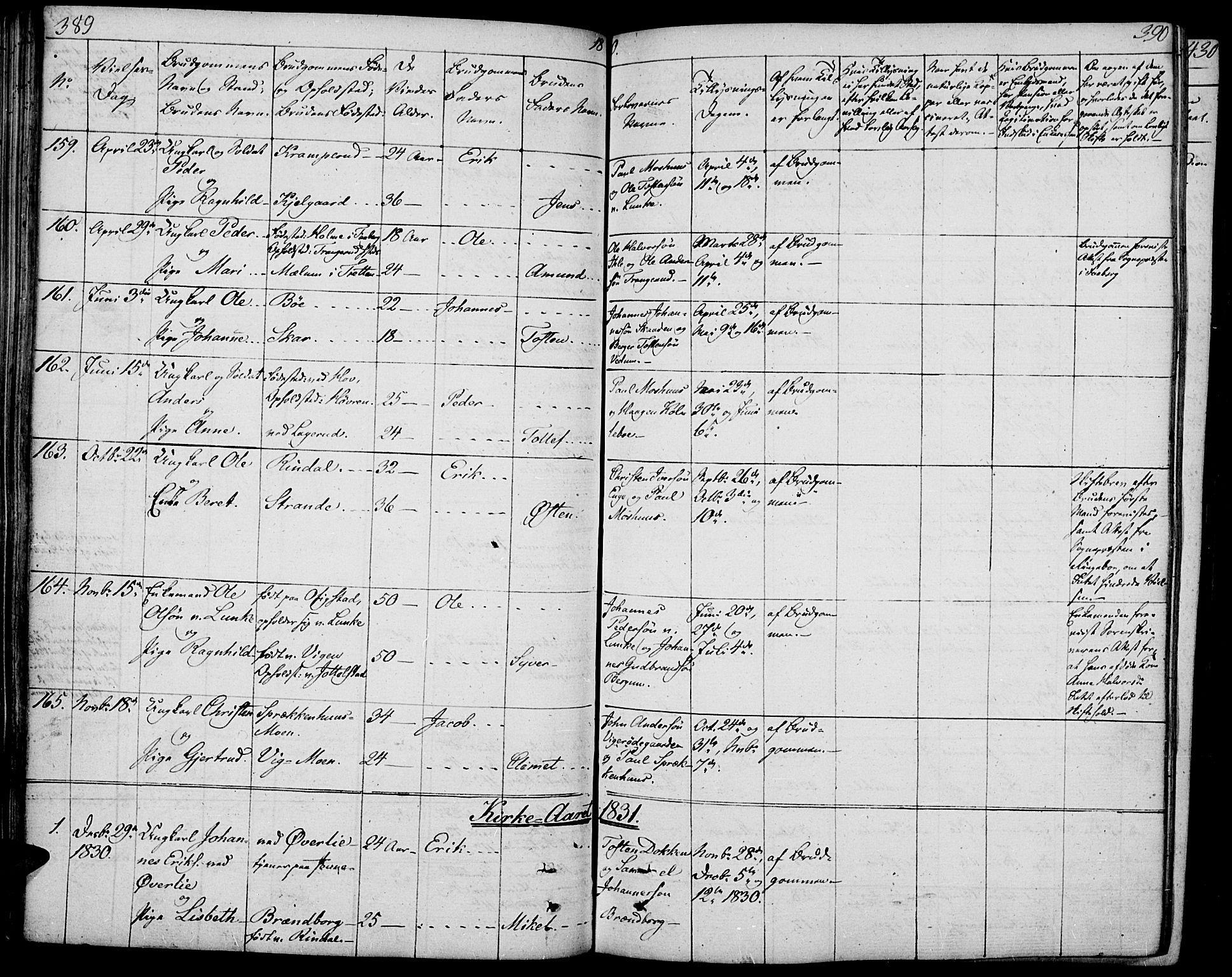 SAH, Øyer prestekontor, Ministerialbok nr. 4, 1824-1841, s. 389-390