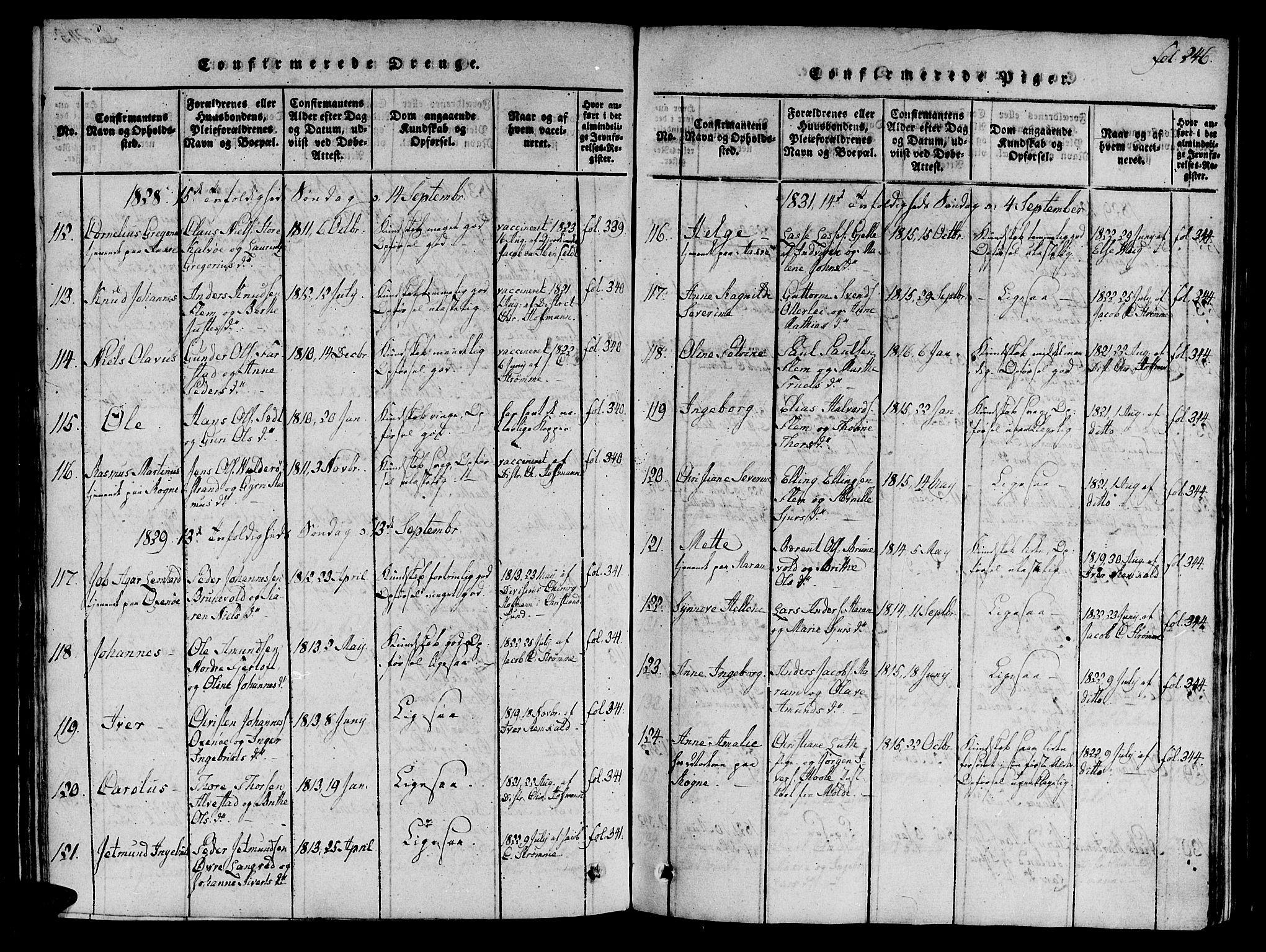 SAT, Ministerialprotokoller, klokkerbøker og fødselsregistre - Møre og Romsdal, 536/L0495: Ministerialbok nr. 536A04, 1818-1847, s. 246