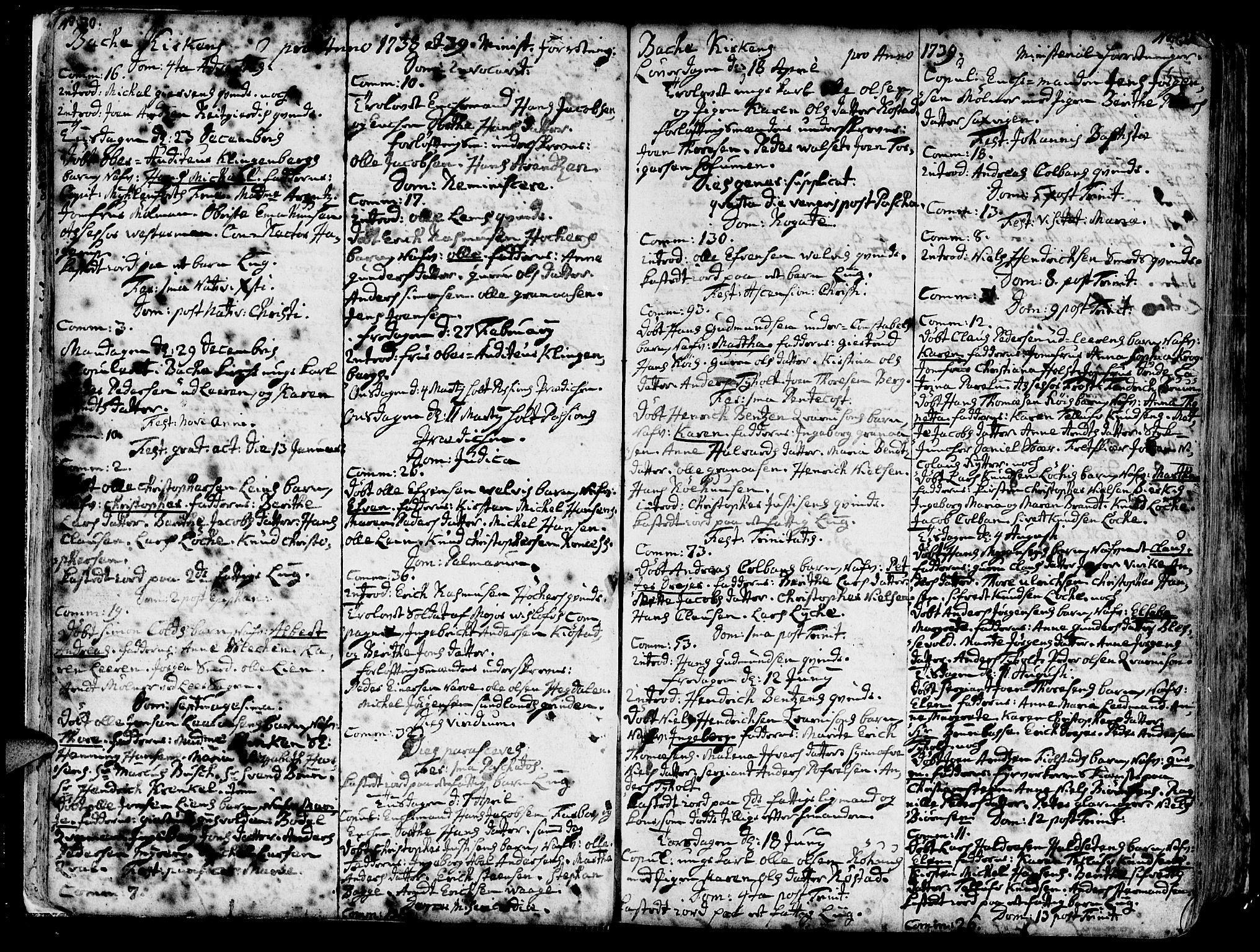 SAT, Ministerialprotokoller, klokkerbøker og fødselsregistre - Sør-Trøndelag, 606/L0276: Ministerialbok nr. 606A01 /2, 1727-1779, s. 30-31
