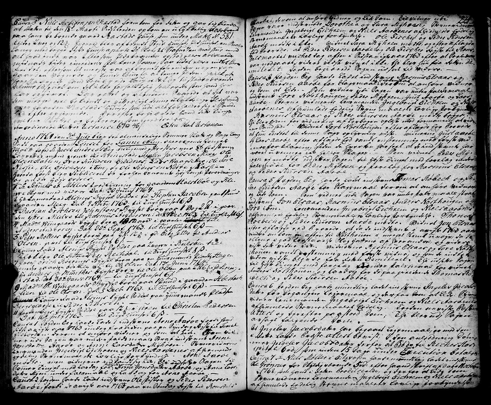 SAT, Romsdal sorenskriveri, 1/1A/L0014: Tingbok, 1757-1765, s. 224