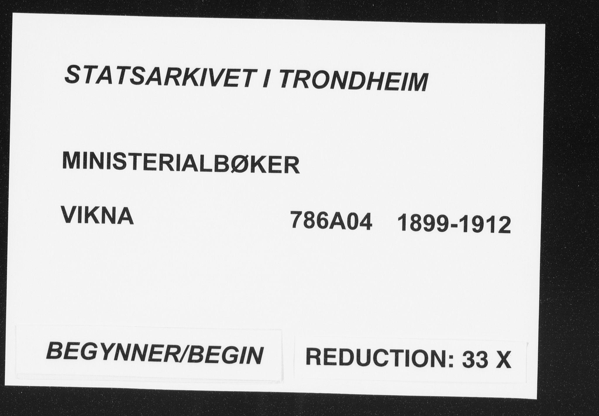 SAT, Ministerialprotokoller, klokkerbøker og fødselsregistre - Nord-Trøndelag, 786/L0688: Ministerialbok nr. 786A04, 1899-1912