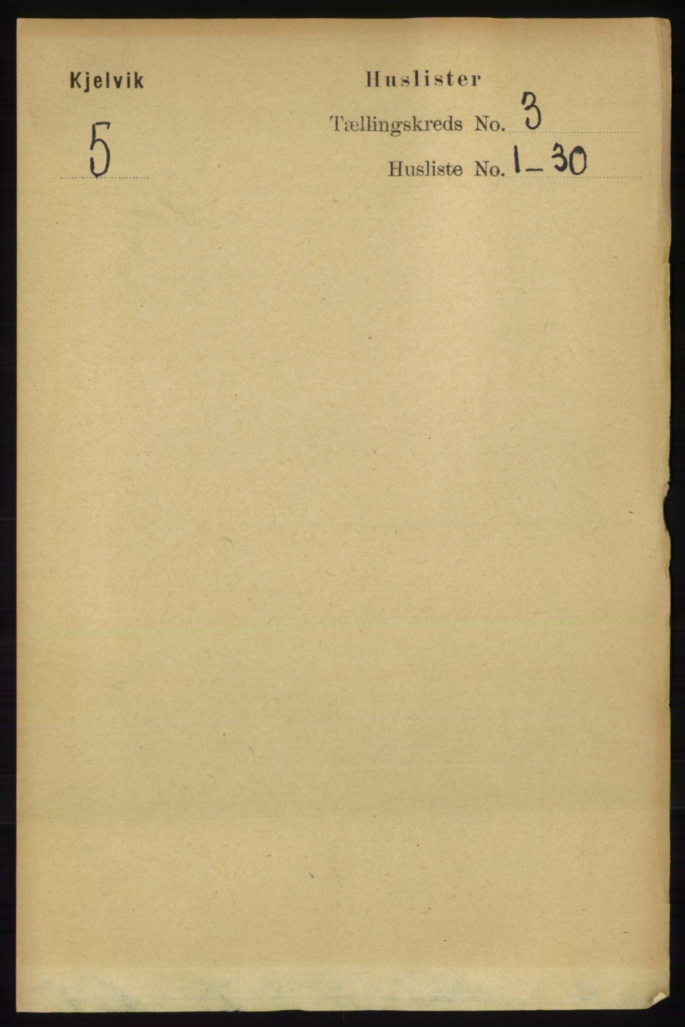 RA, Folketelling 1891 for 2019 Kjelvik herred, 1891, s. 214